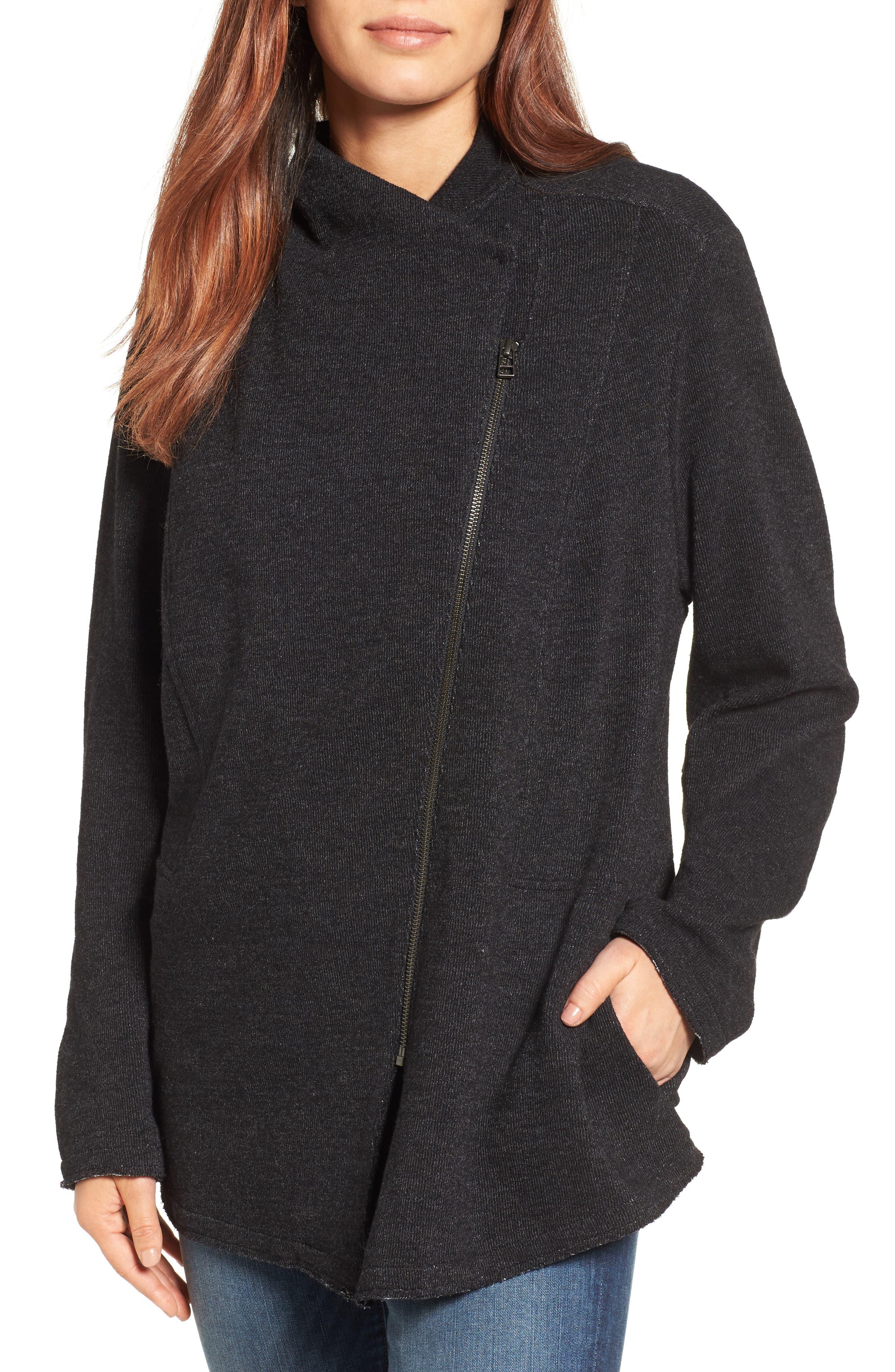 Main Image - Caslon® Knit Moto Jacket (Regular & Petite)