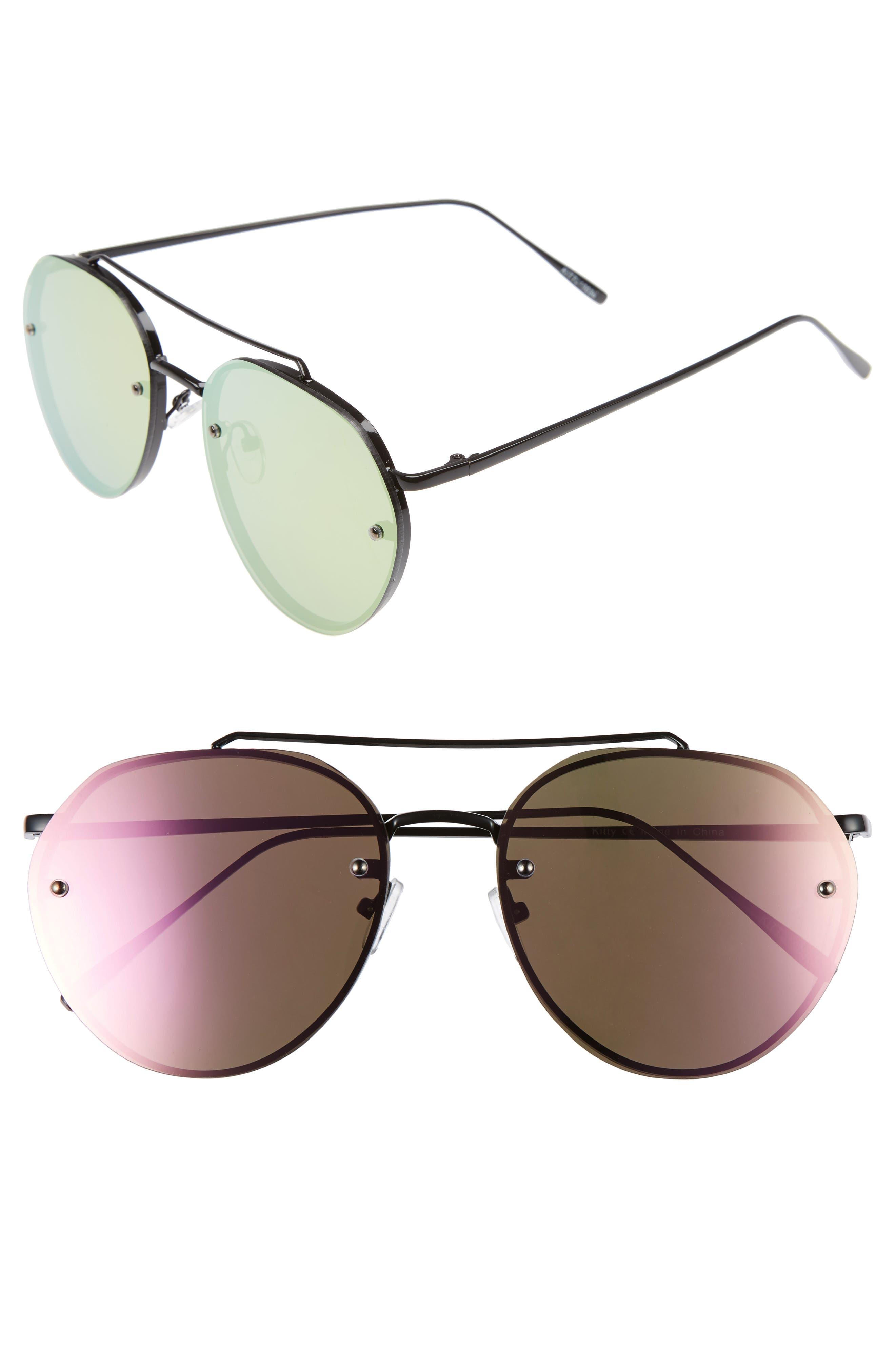 Main Image - Leith Kitty 60mm Mirrored Sunglasses