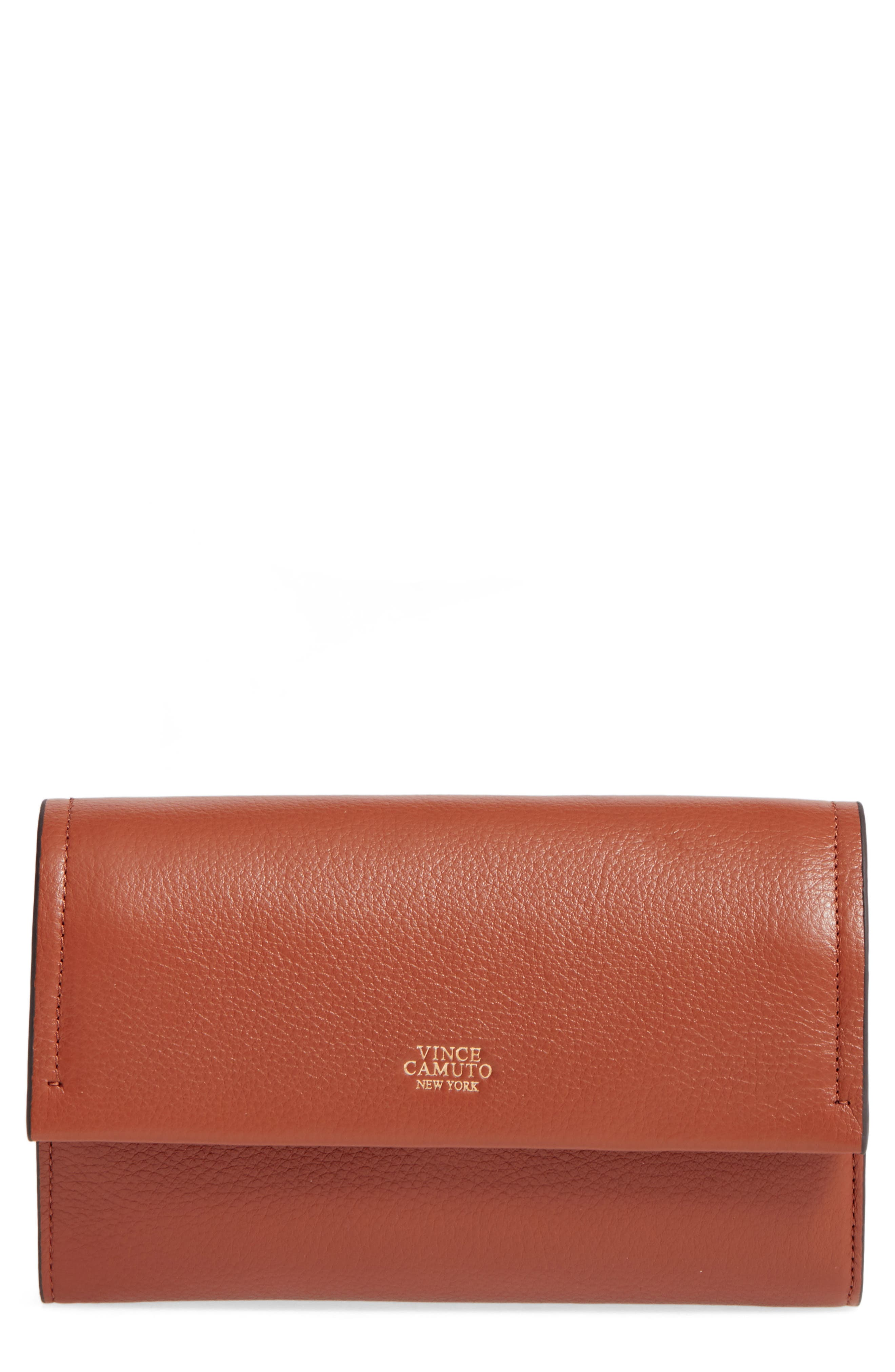 Vince Camuto Zosia Leather Crossbody Wallet