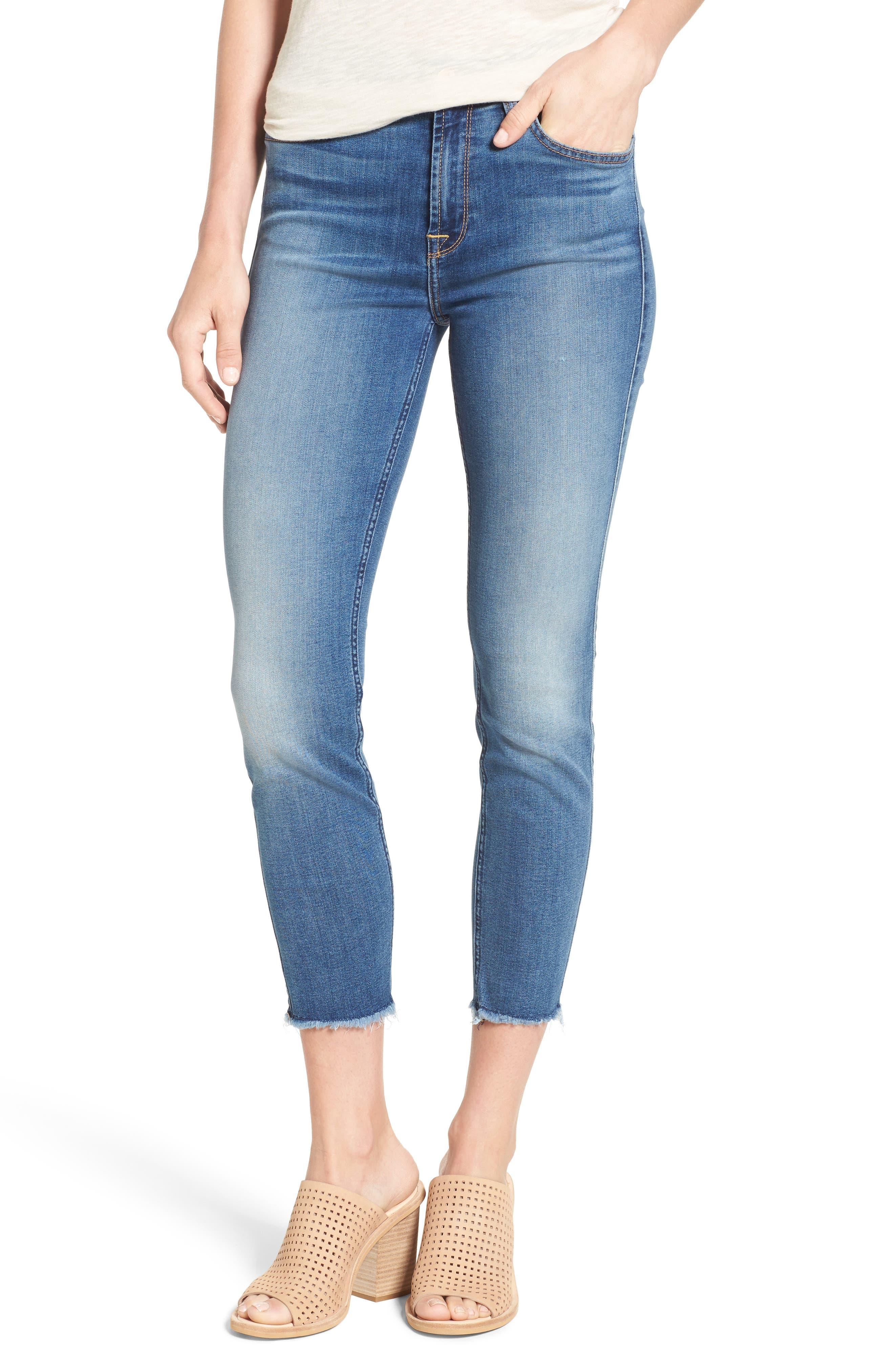 Jen7 Crop Skinny Jeans (Riche Touch Estancia Blue)