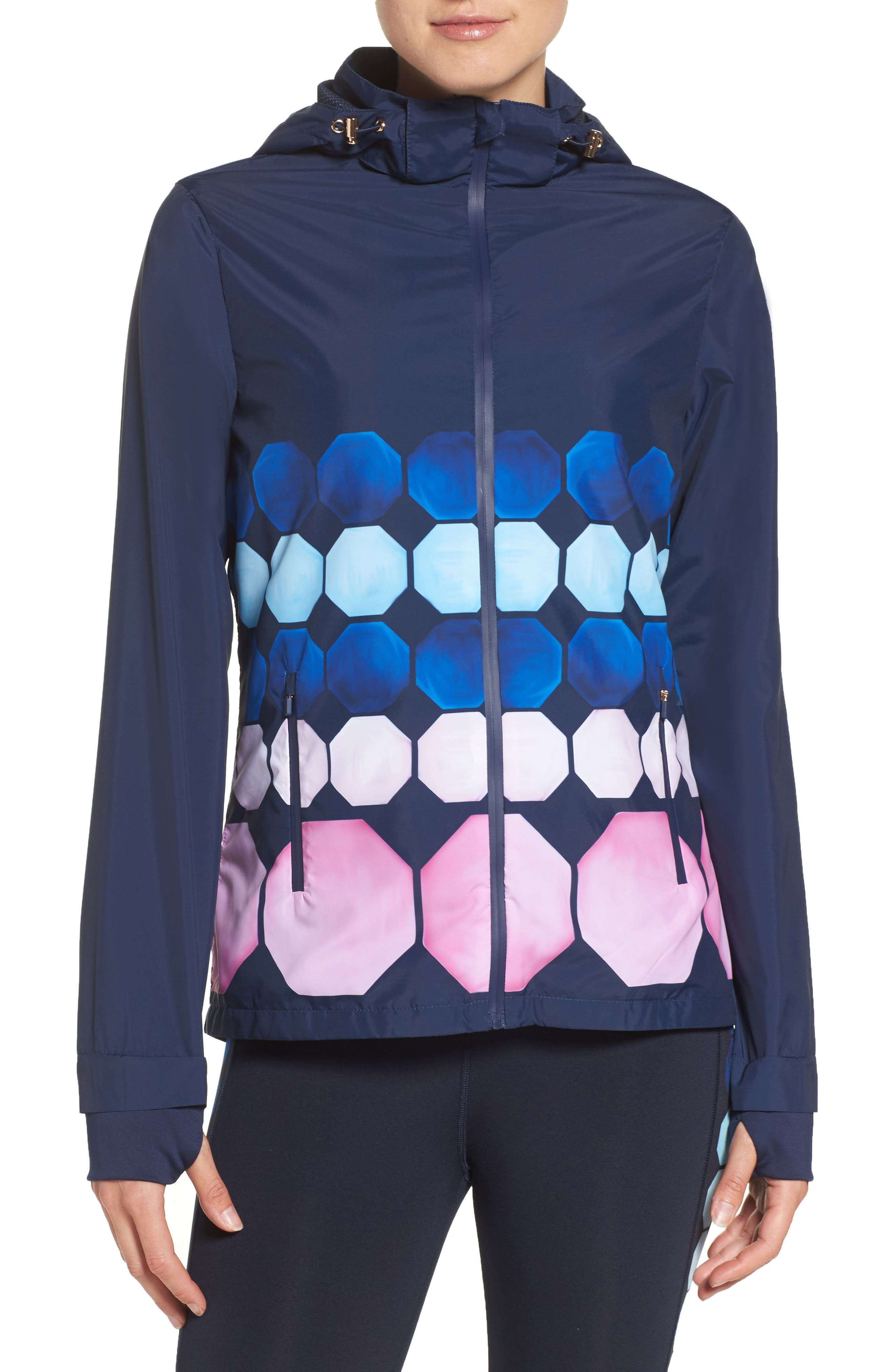 Ted Baker London Marina Mosaic Hooded Jacket