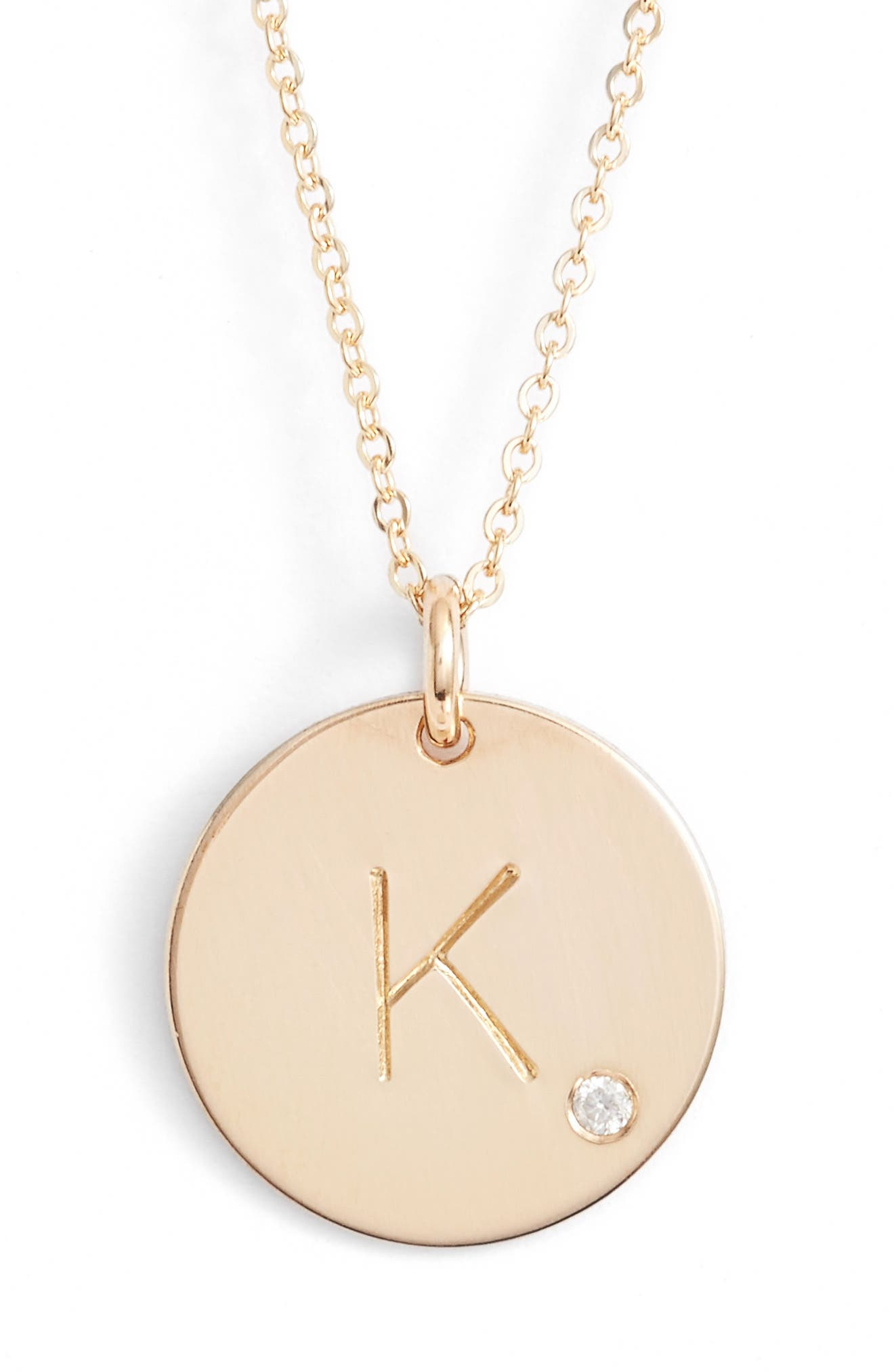 Nashelle Diamond Initial Pendant Necklace