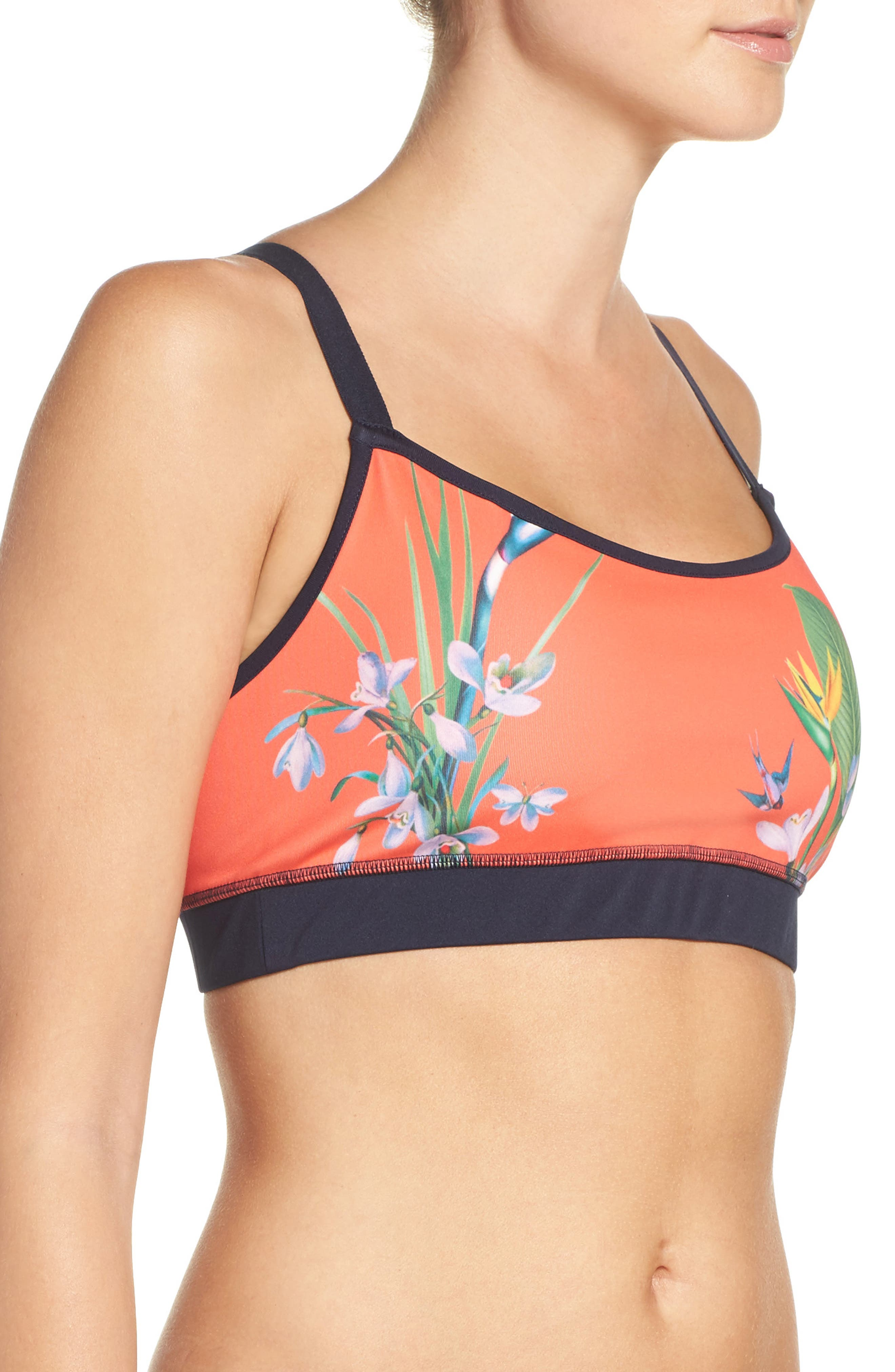 Alternate Image 3  - Ted Baker London Tropical Oasis Sports Bra