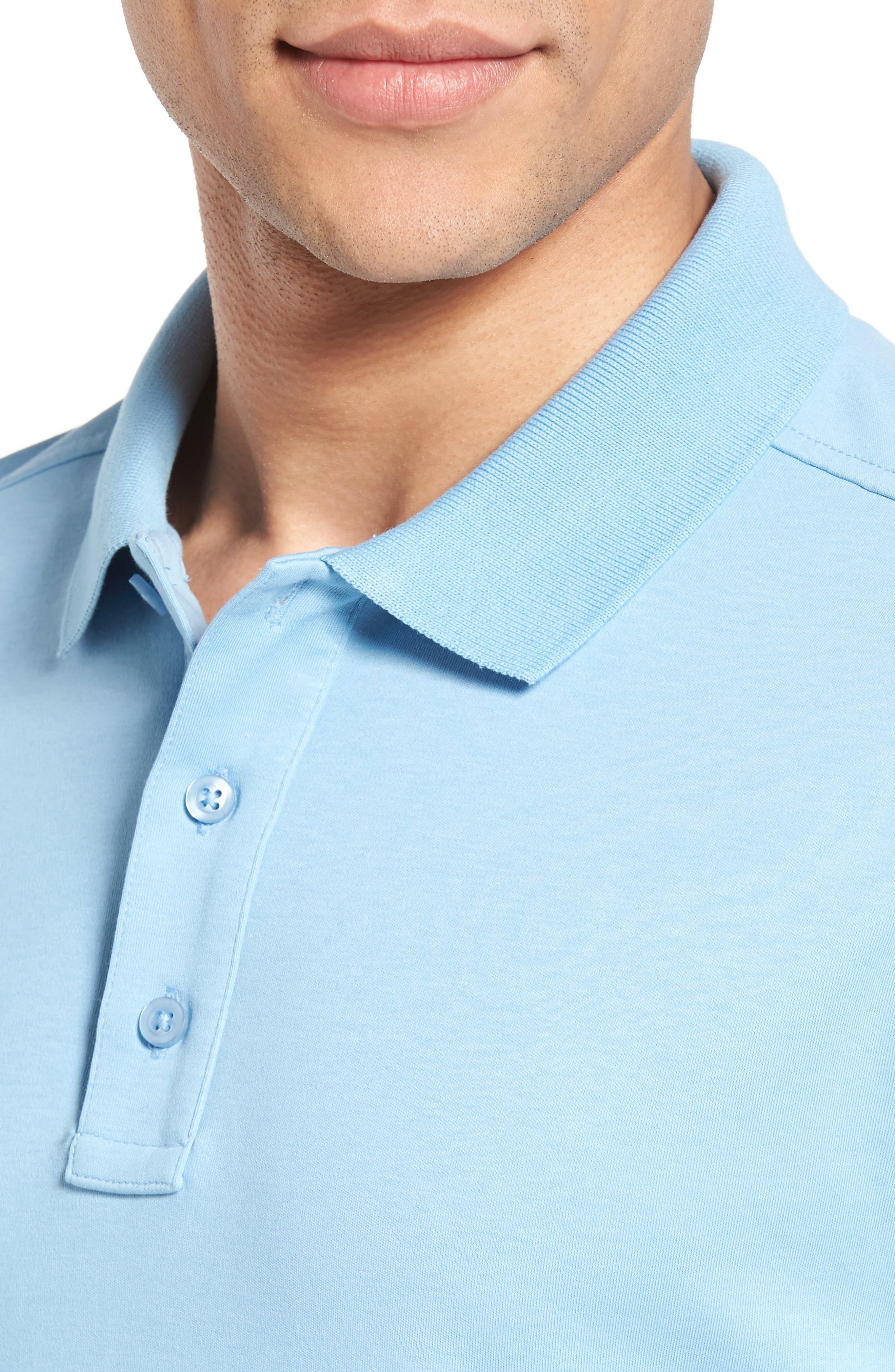 Alternate Image 4  - Nordstrom Men's Shop Slim Fit Interlock Knit Polo