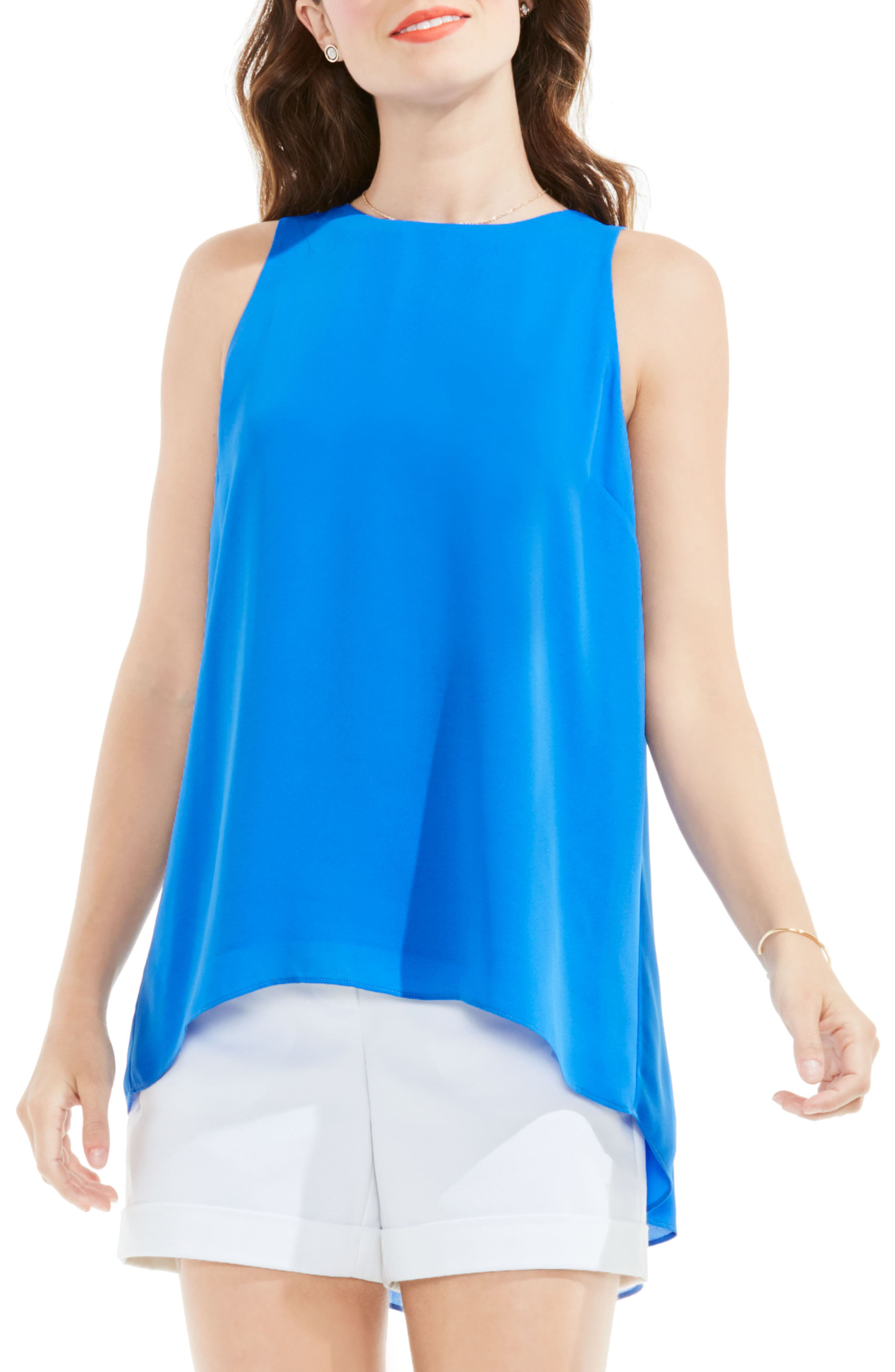 Alternate Image 1 Selected - Vince Camuto Back Pleat Blouse