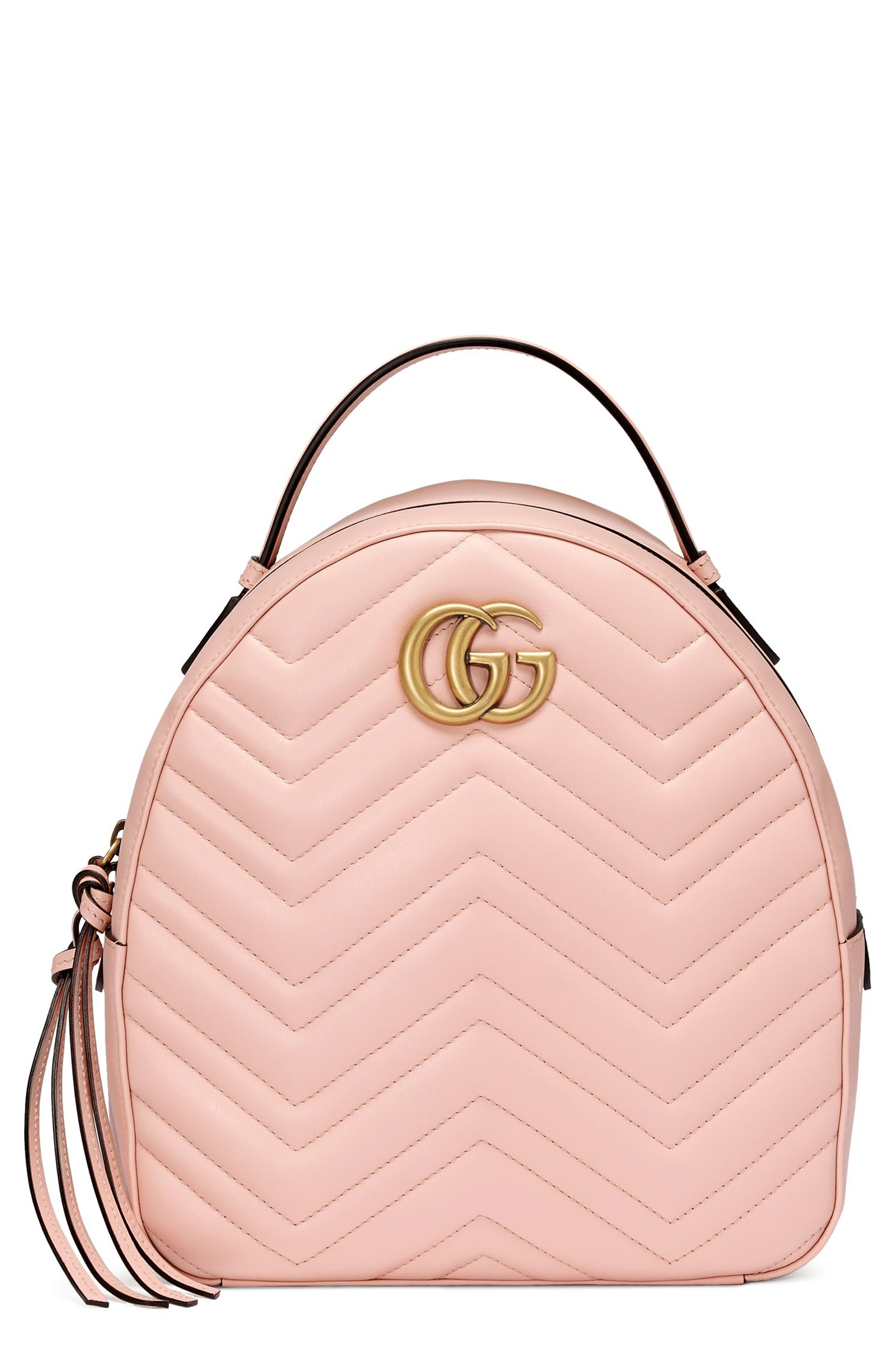 Main Image - Gucci GG Marmont Matelassé Quilted Leather Backpack