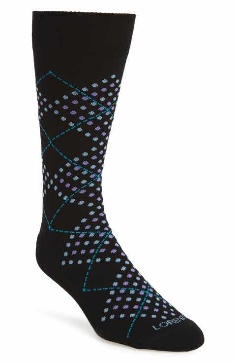 Lorenzo Uomo Dotted Argyle Crew Socks (3 for $30)