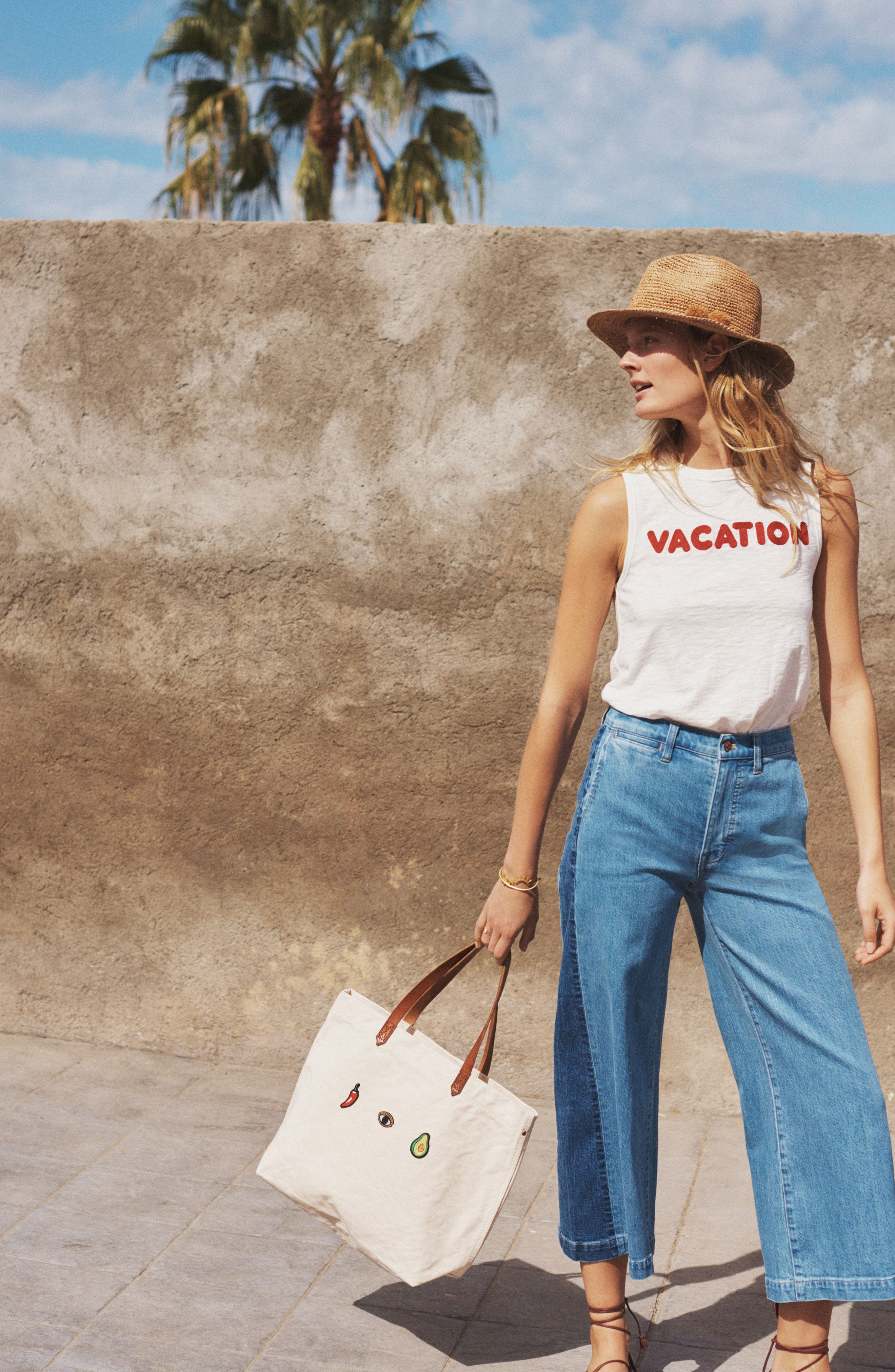 Alternate Image 2  - Madewell Vacation Embroidered Tank