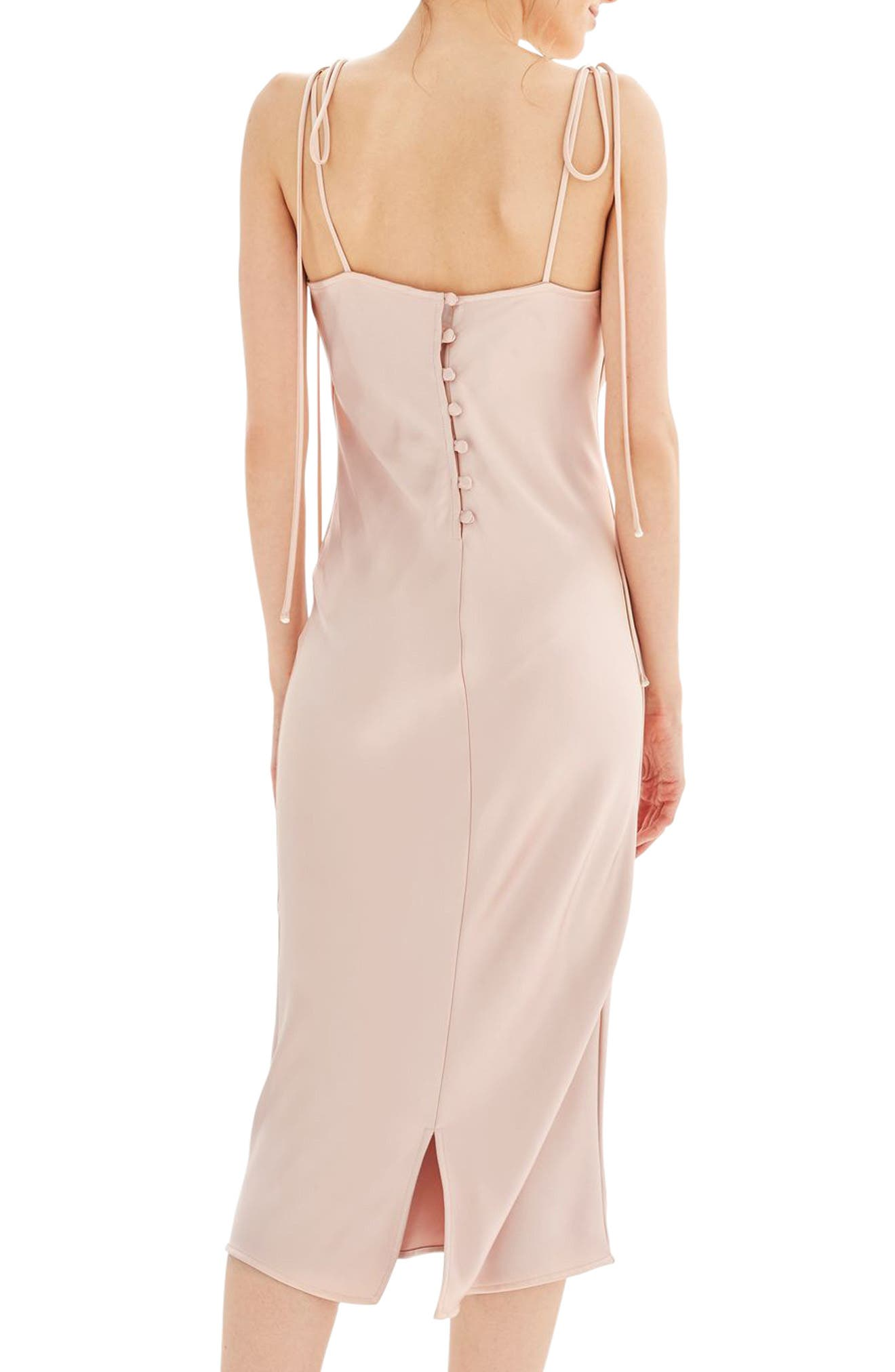 Alternate Image 3  - Topshop Bride Cowl Neck Midi Dress