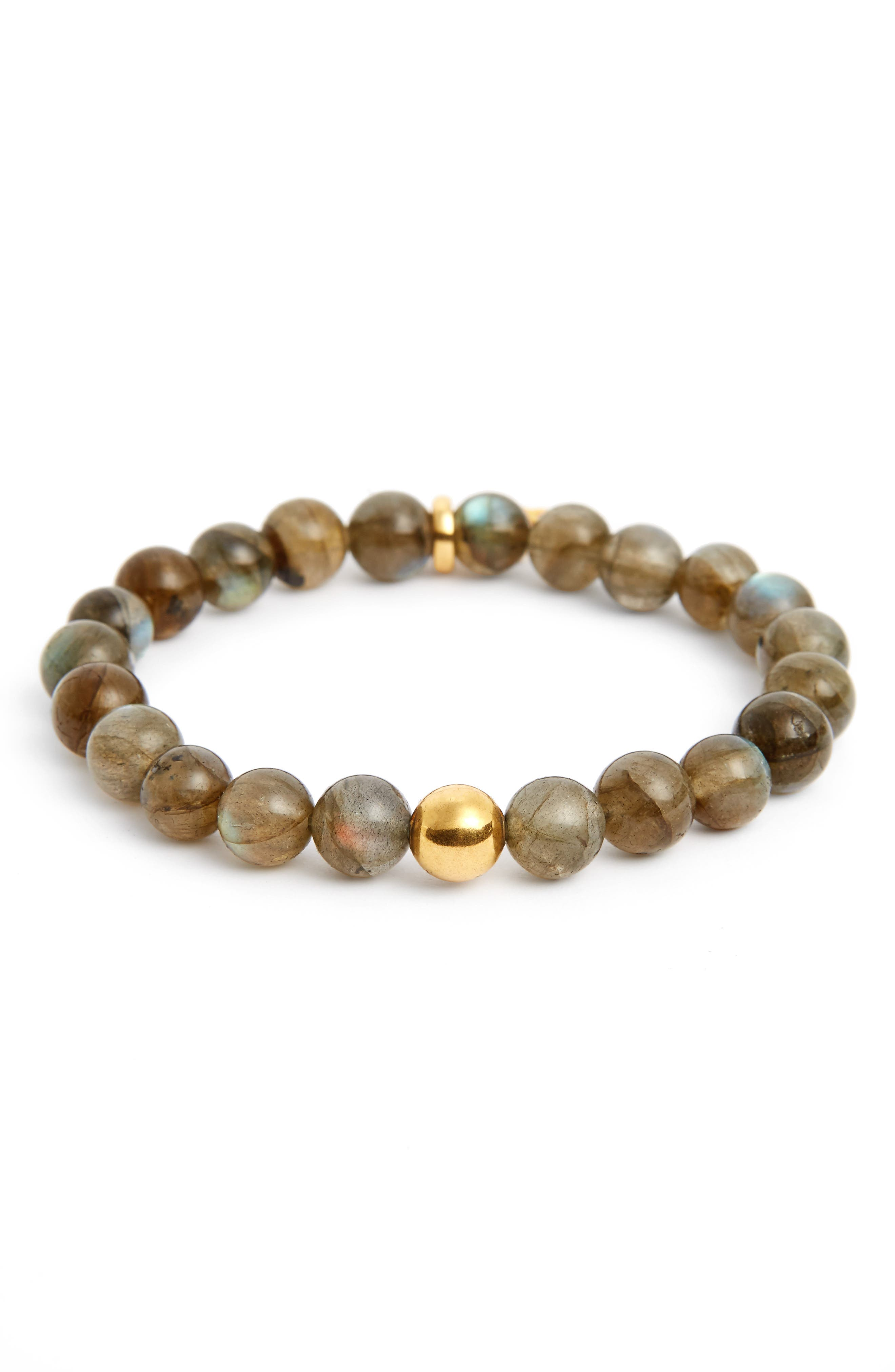 Dean Davidson Sphere Semiprecious Stone Elastic Bracelet