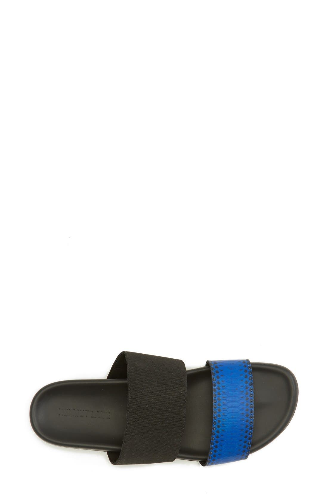 Alternate Image 4  - Helmut Lang 'Beach' Genuine Snakeskin Slide Sandal (Women)