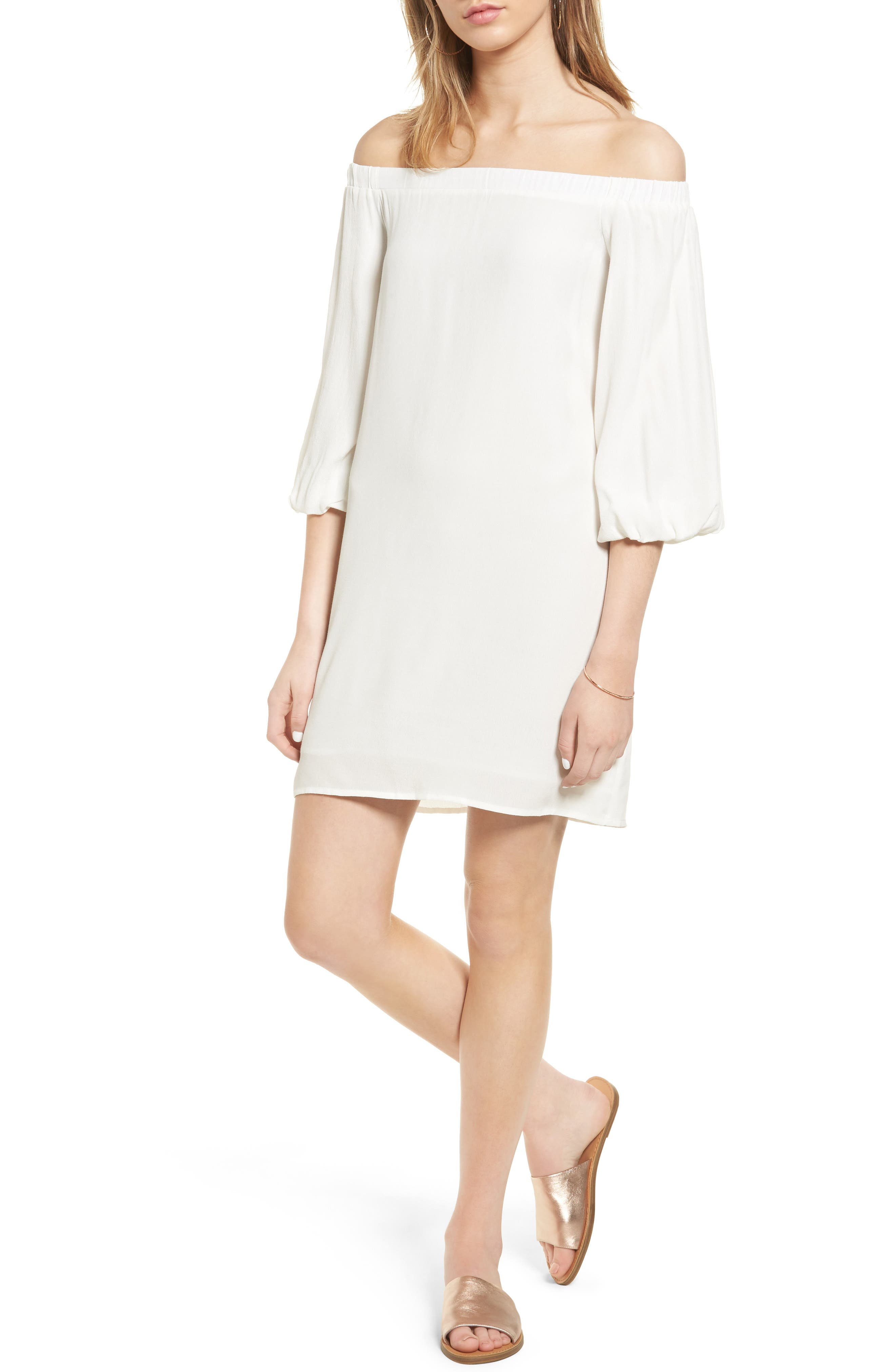 Soprano Bell Sleeve Off the Shoulder Dress