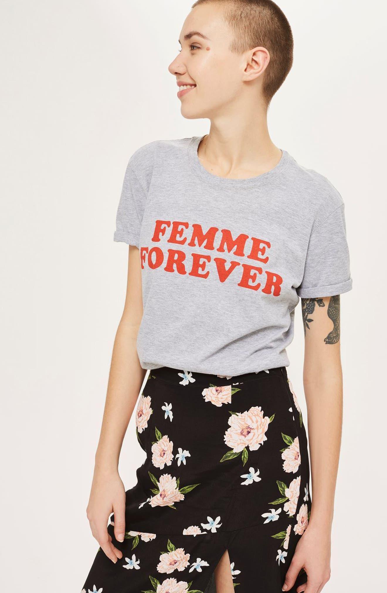 Alternate Image 2  - Topshop Split Floral Maxi Skirt