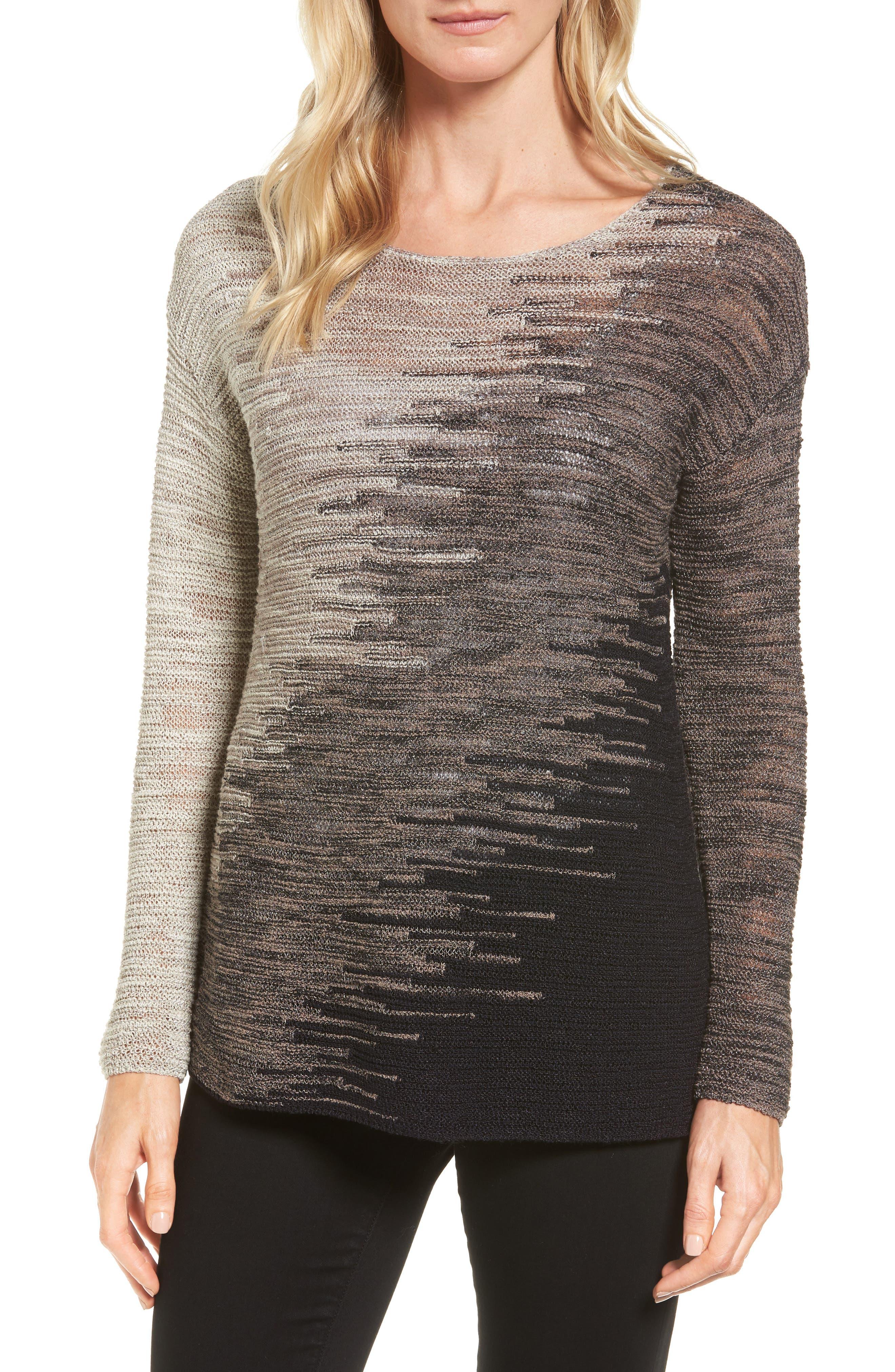NIC+ZOE Blurred Lines Pullover (Regular & Petite)