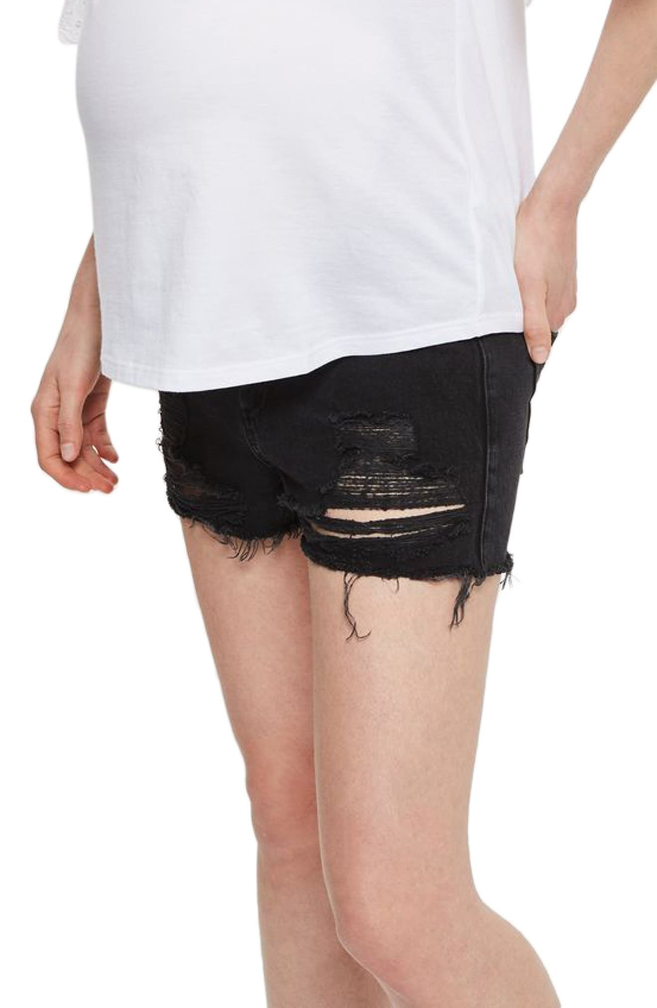 Topshop Ripped Maternity Shorts