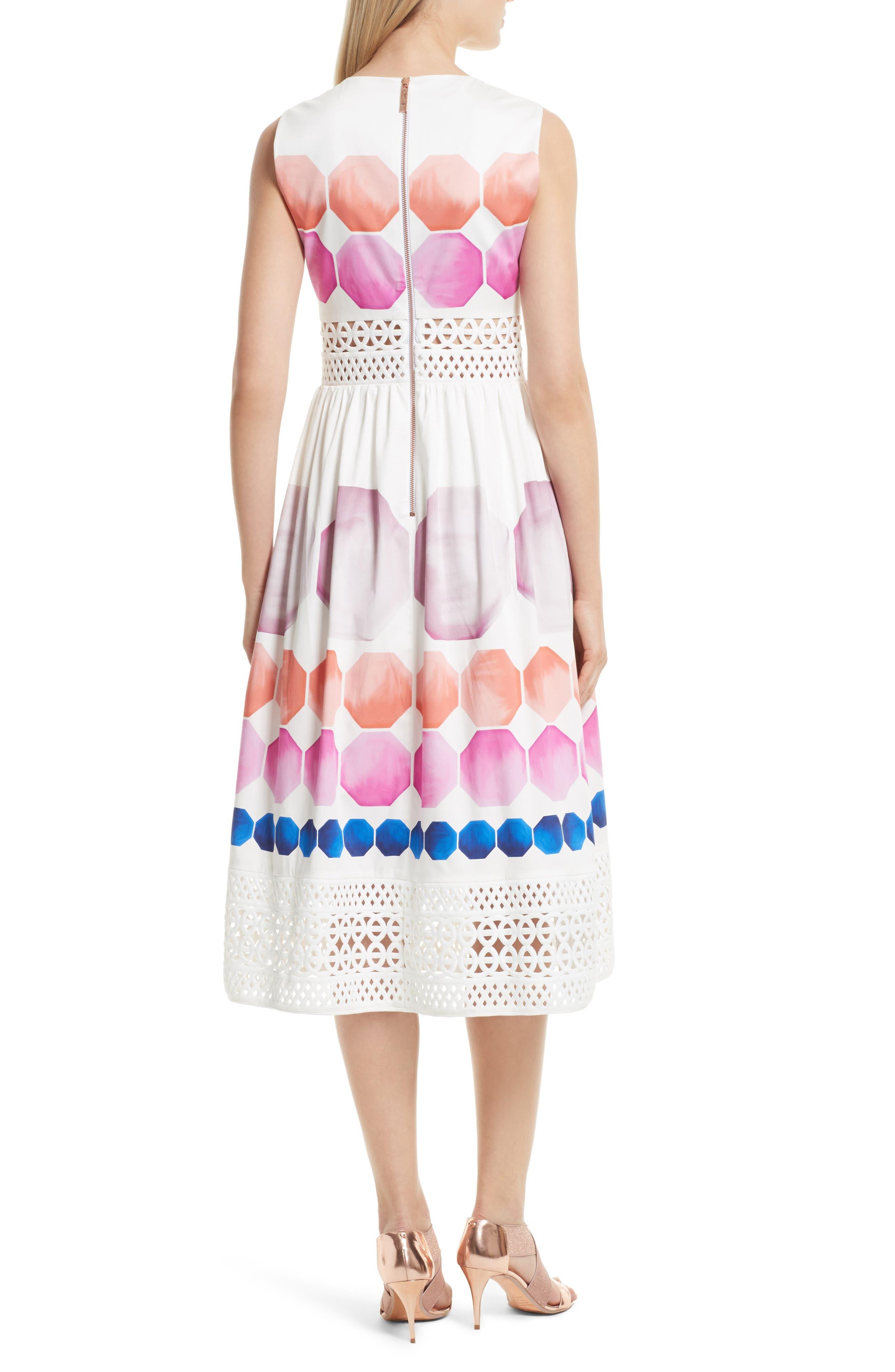 Alternate Image 3  - Ted Baker London Serinah Stretch Cotton Midi Dress