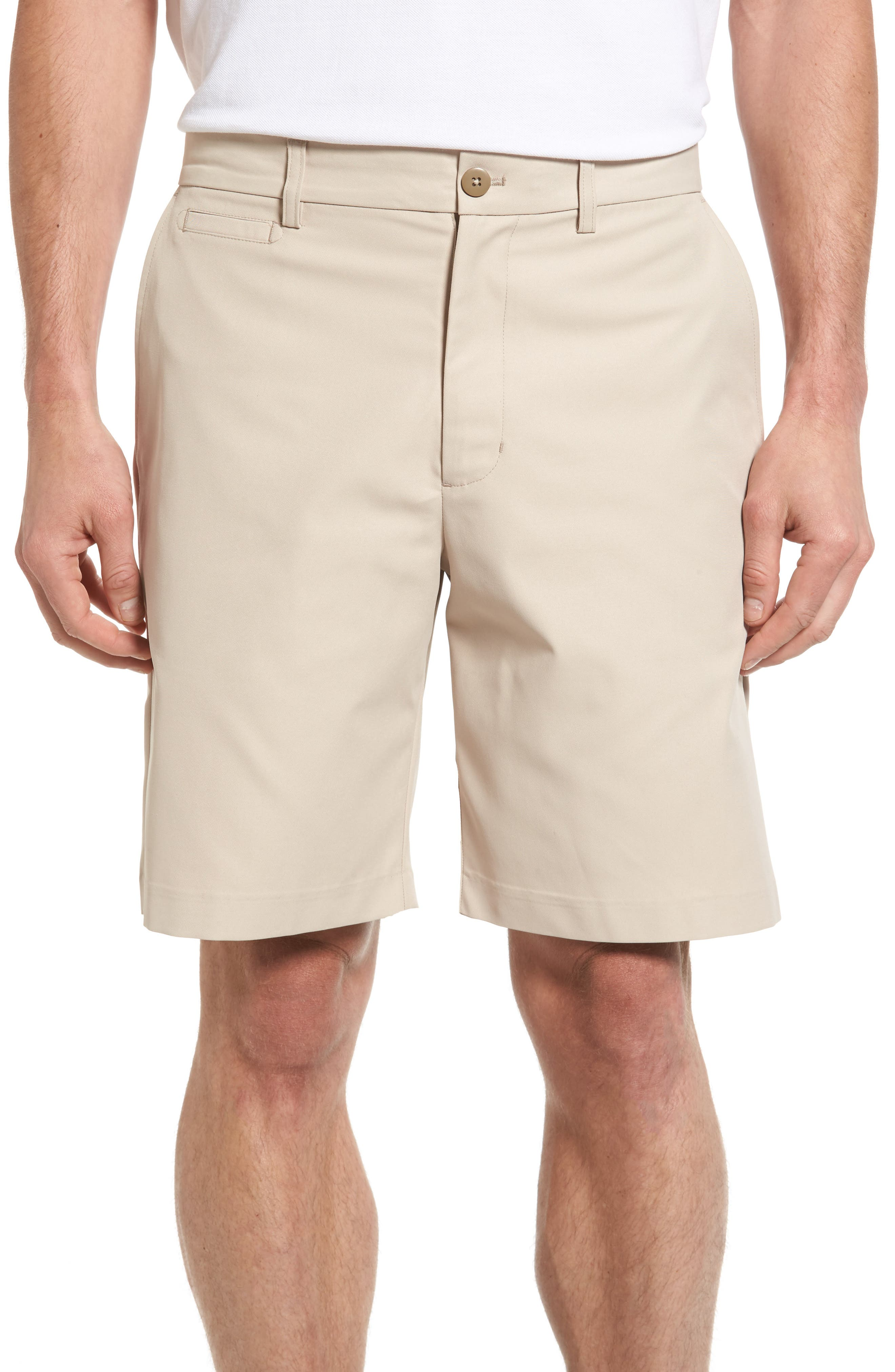Nordstrom Men's Shop Flat Front Performance Shorts
