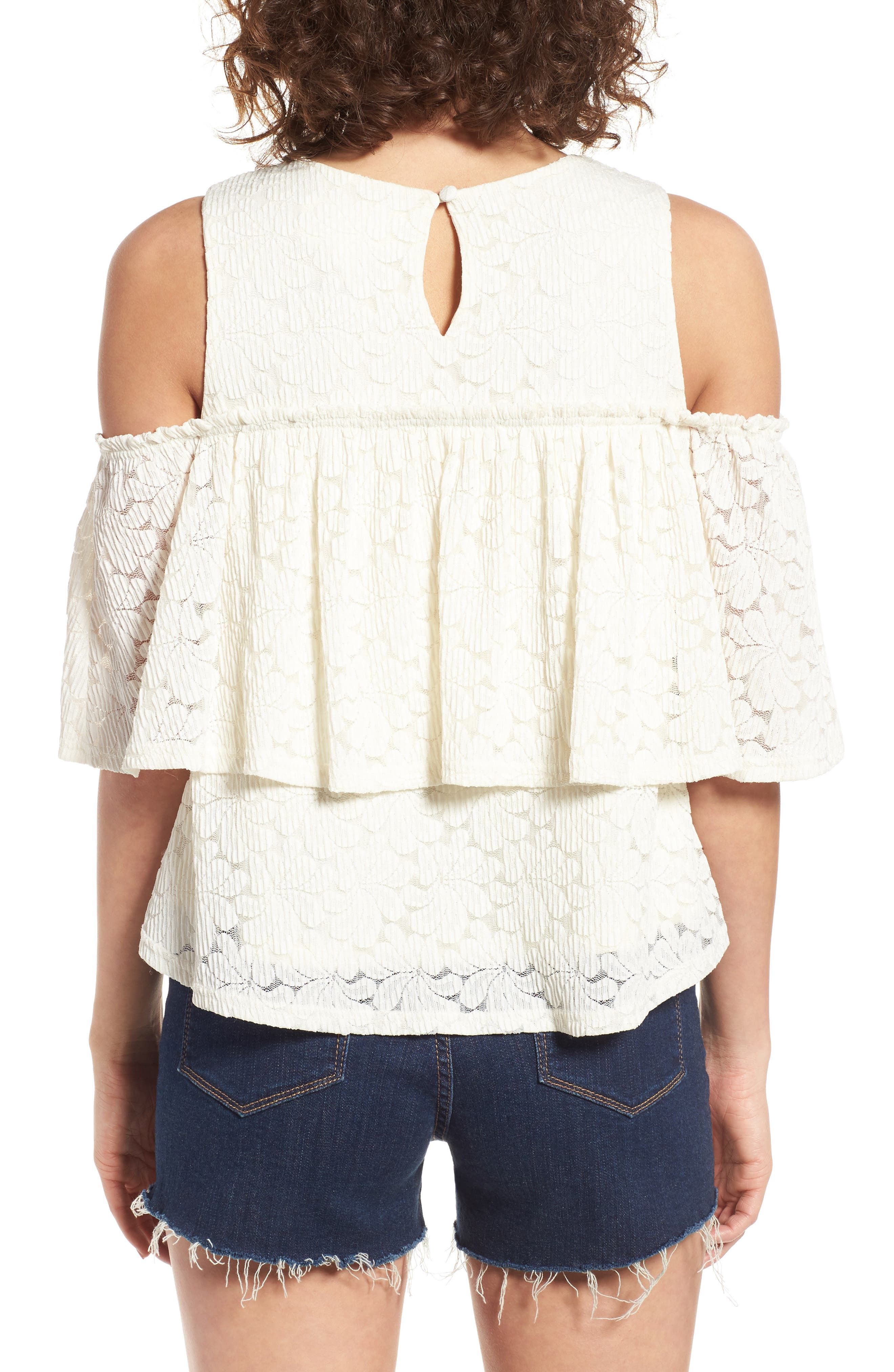 Alternate Image 2  - J.O.A. Cold Shoulder Top