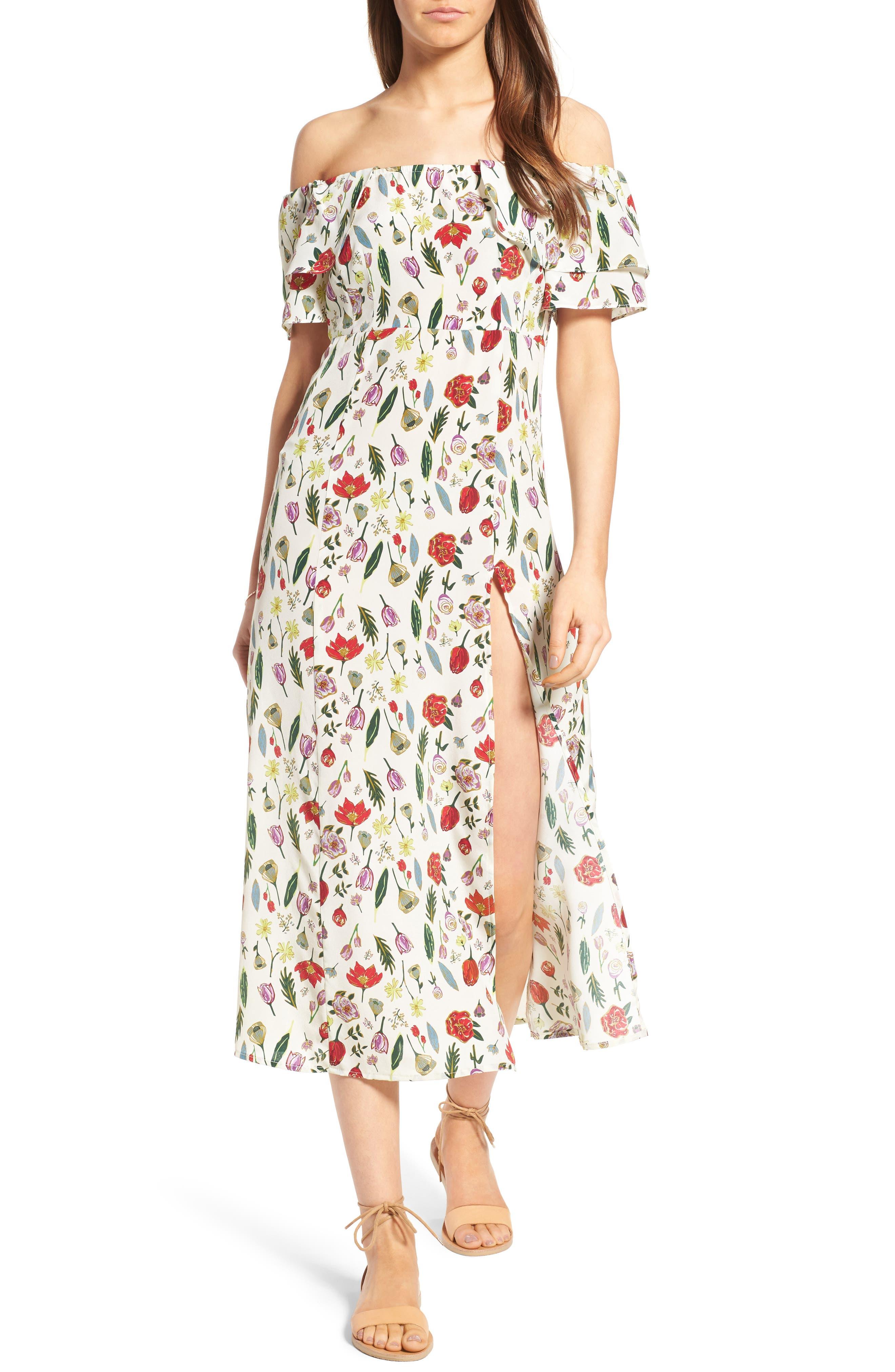 Alternate Image 1 Selected - Stone Cold Fox Versilia Silk Midi Dress