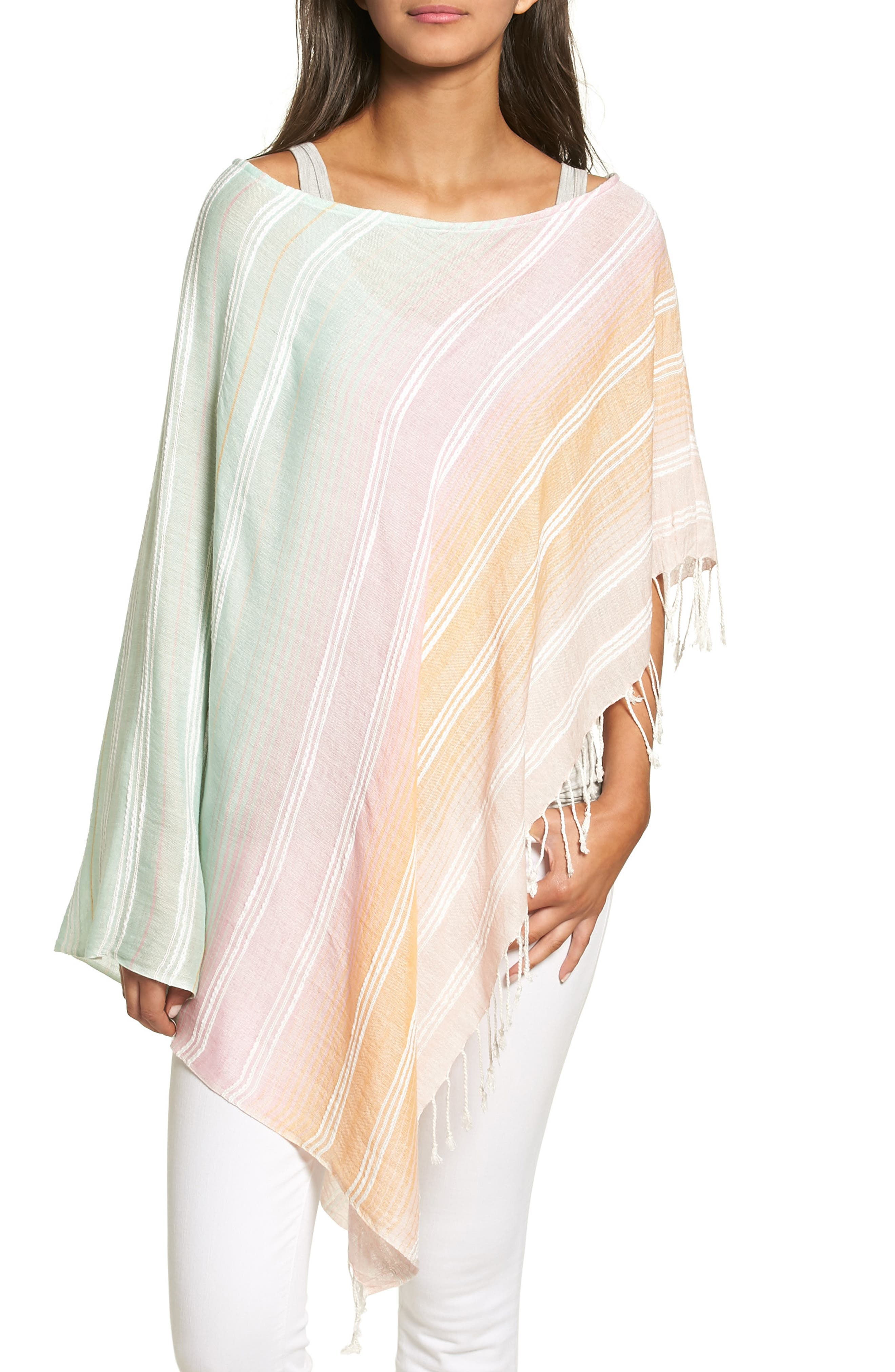 Echo Textured Stripe Poncho