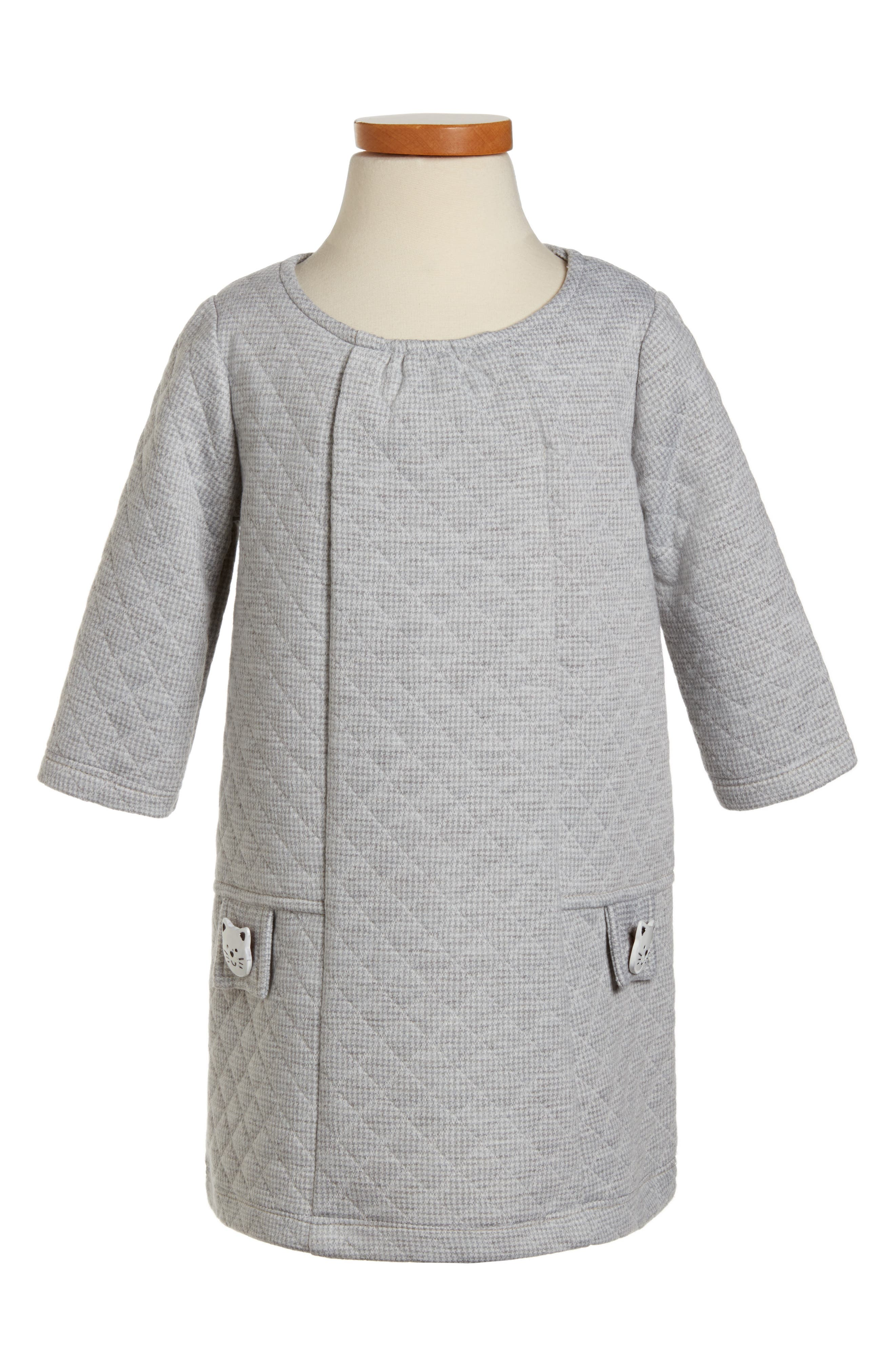 Pippa & Julie Quilted Shift Dress (Toddler Girls & Little Girls)