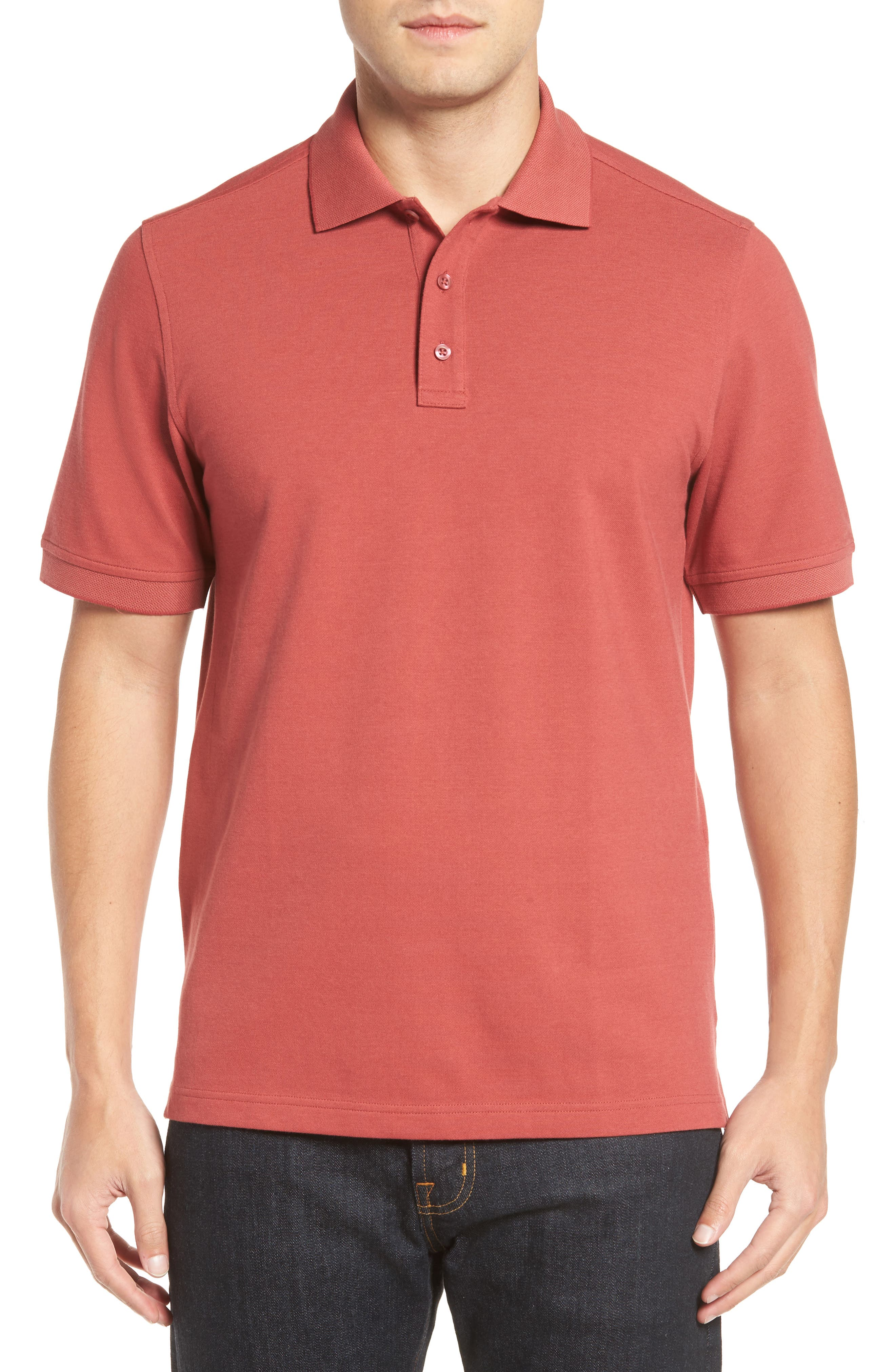 Nordstrom Men's Shop 'Classic' Regular Fit Oxford Piqué Polo (Big)
