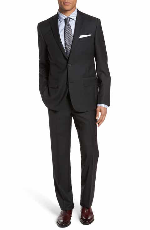 Nordstrom Men's Shop Trim Fit Check Wool Suit