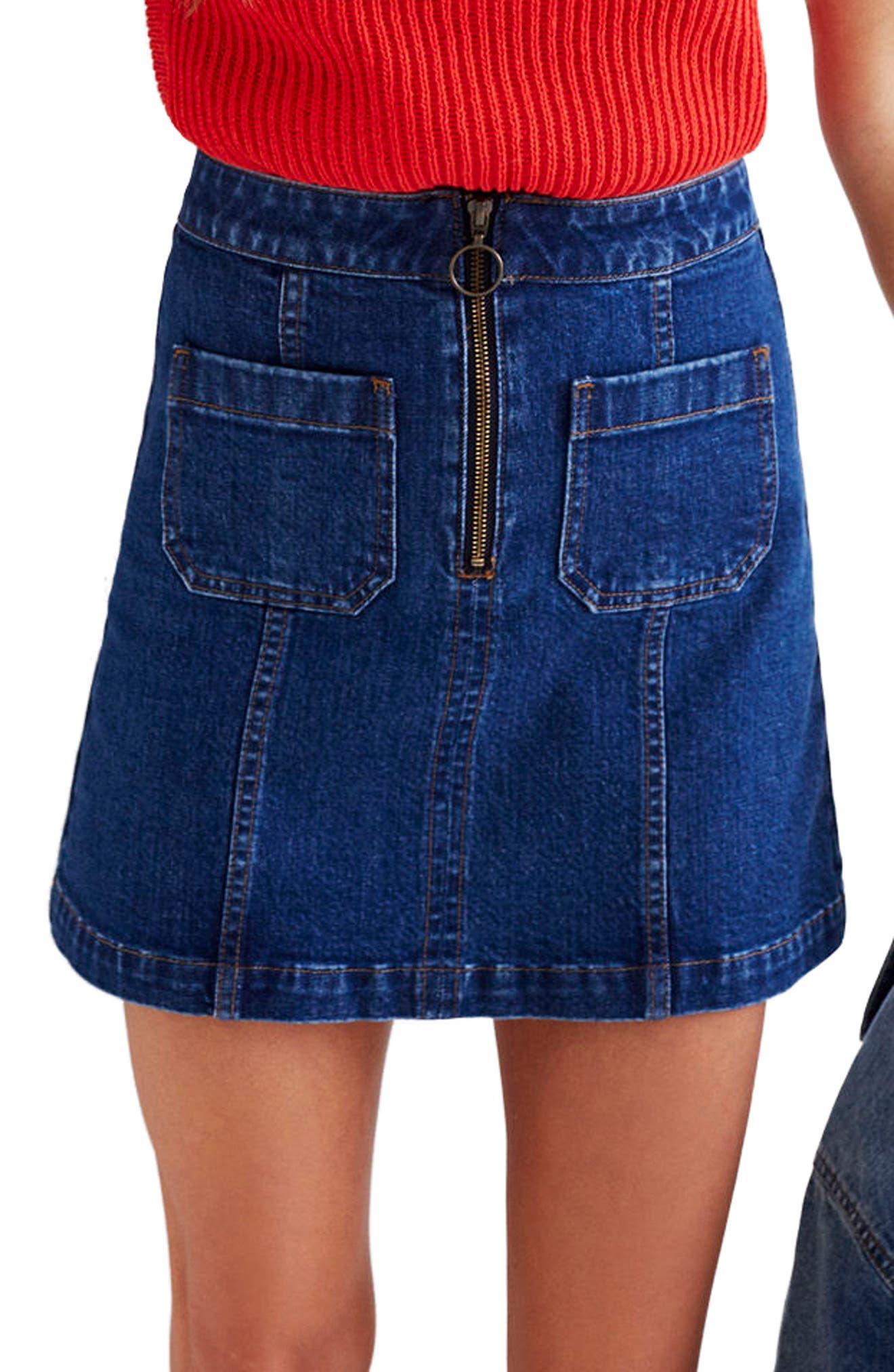 Main Image - Madewell Denim Miniskirt