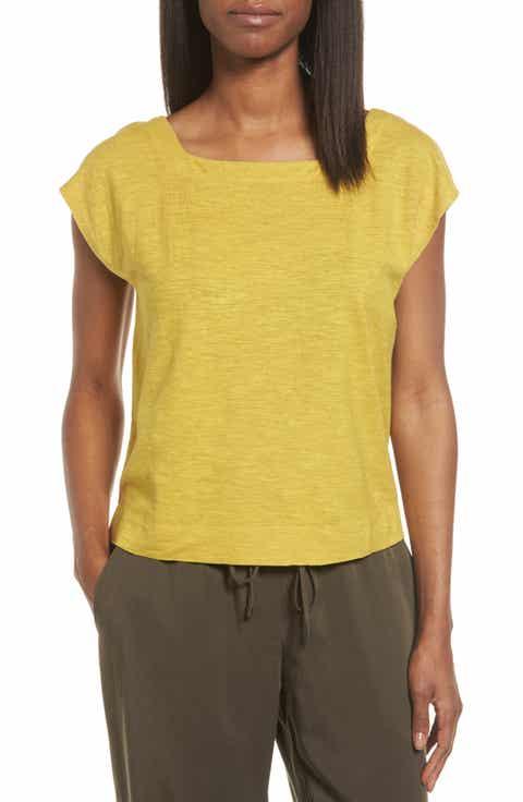 Eileen Fisher Hemp   Organic Cotton Knit Crop Top (Regular   Petite)