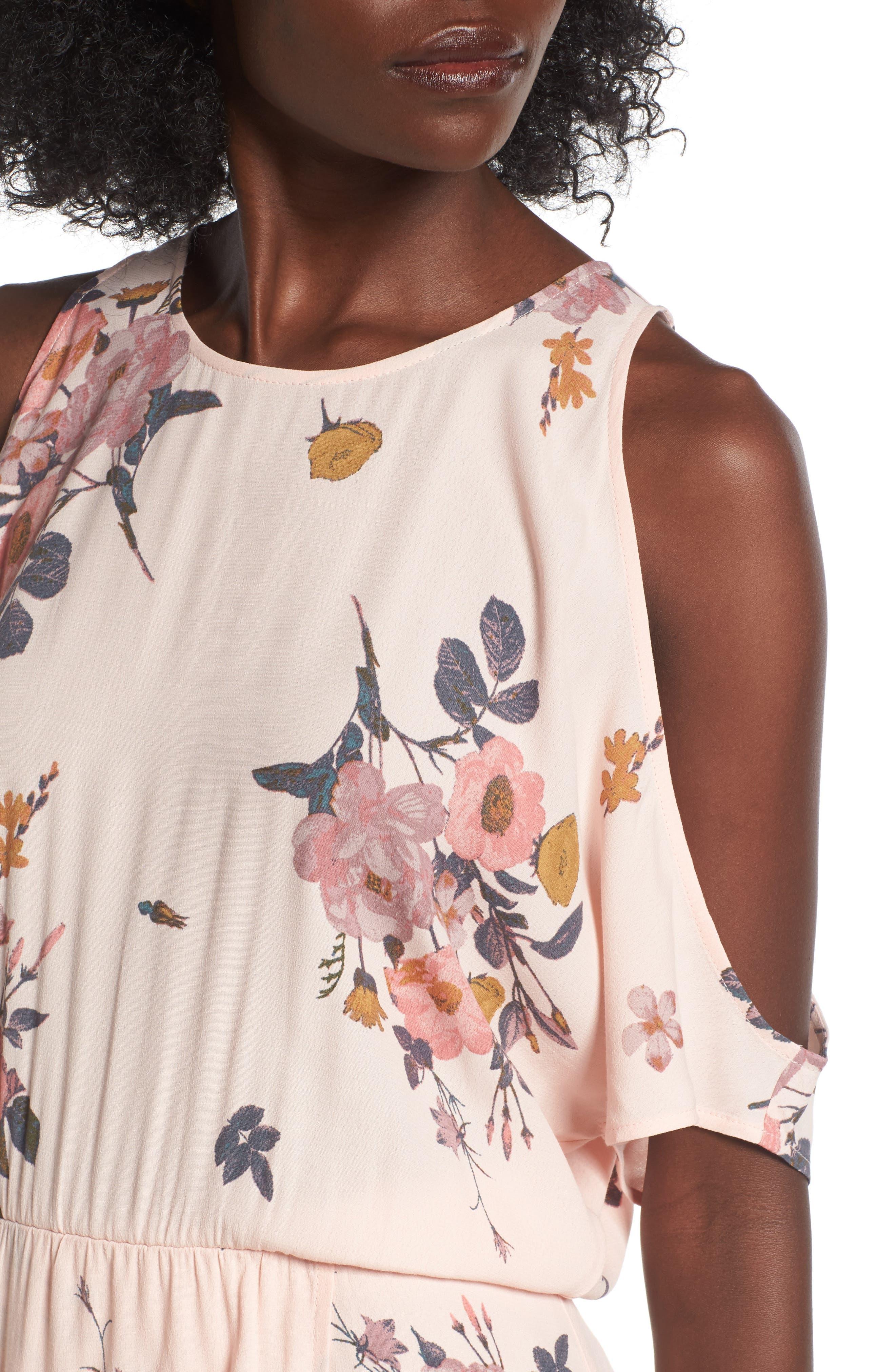 Alternate Image 4  - Leith Cold Shoulder Midi Dress