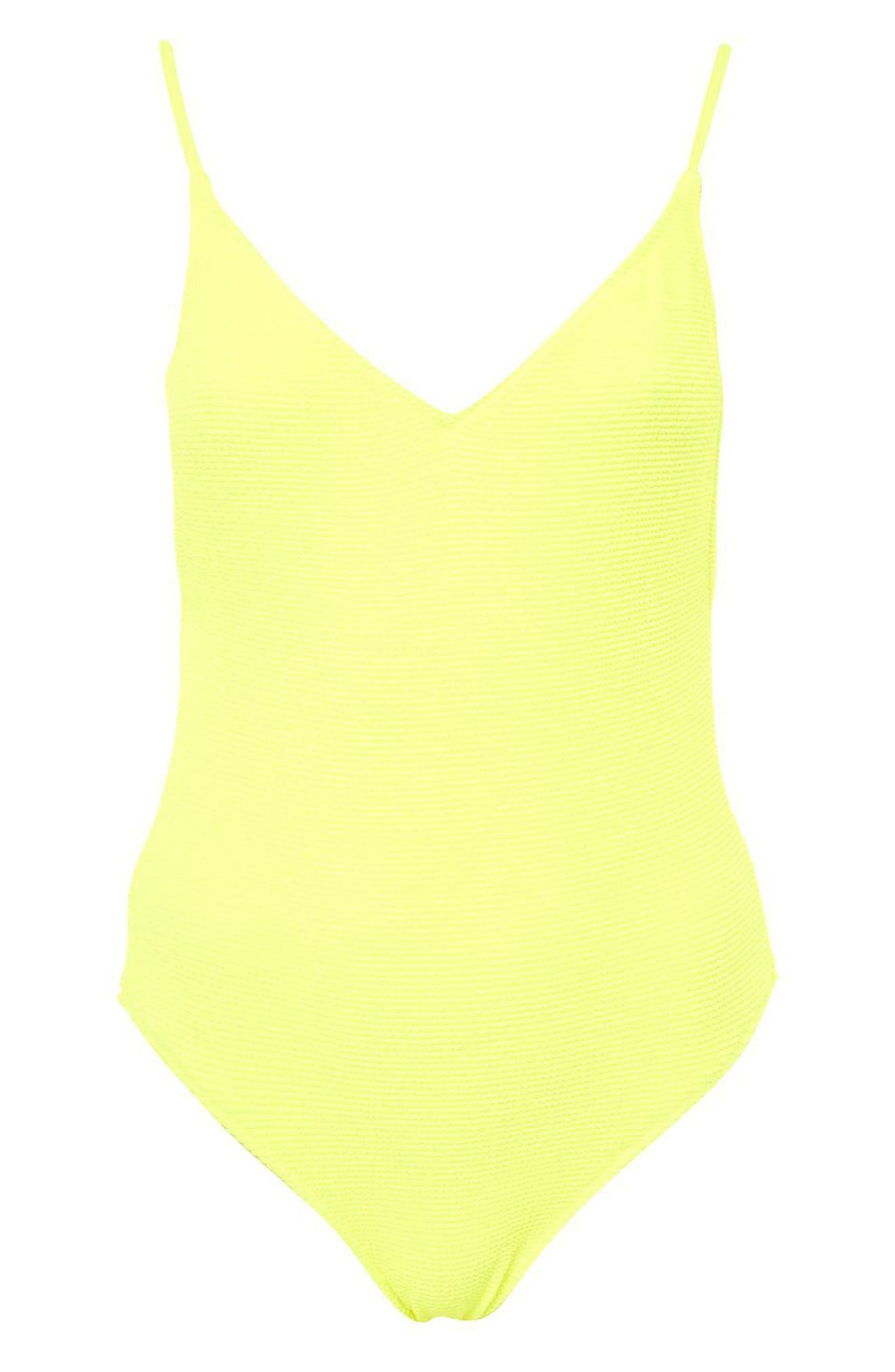 Alternate Image 3  - Topshop Textured One-Piece Swimsuit