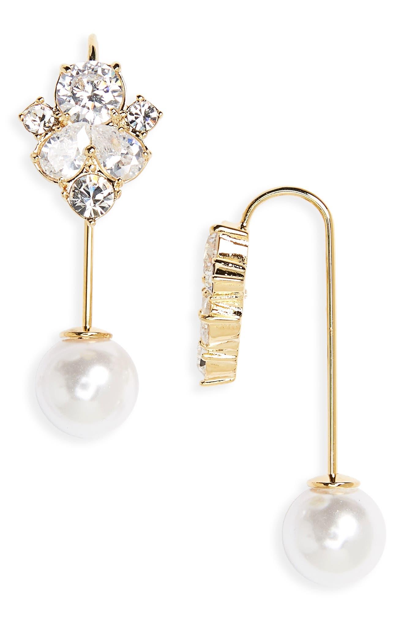 kate spade new york cluster hanger crystal drop earrings