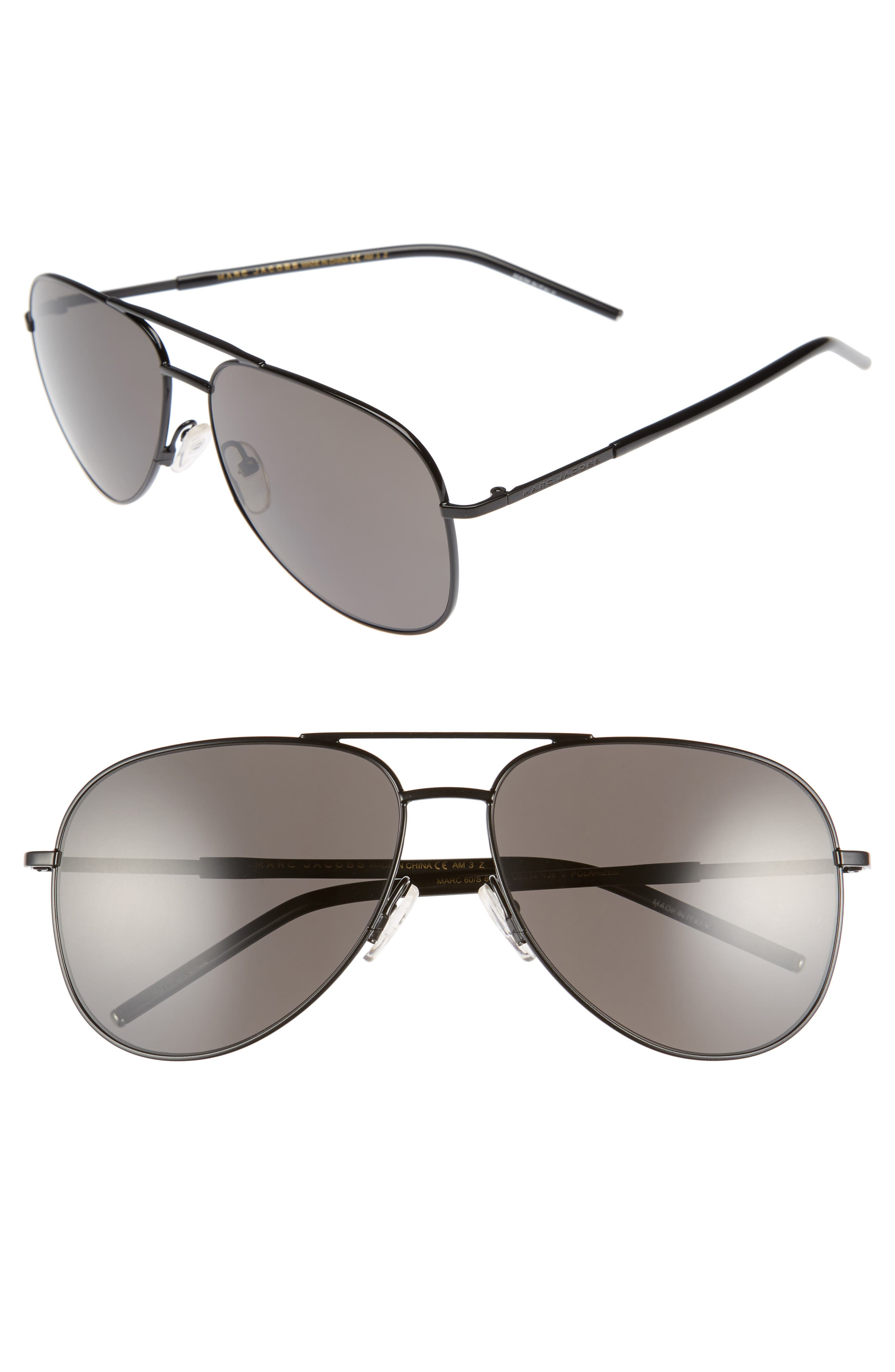 MARC JACOBS 59mm Gradient Polarized Aviator Sunglasses