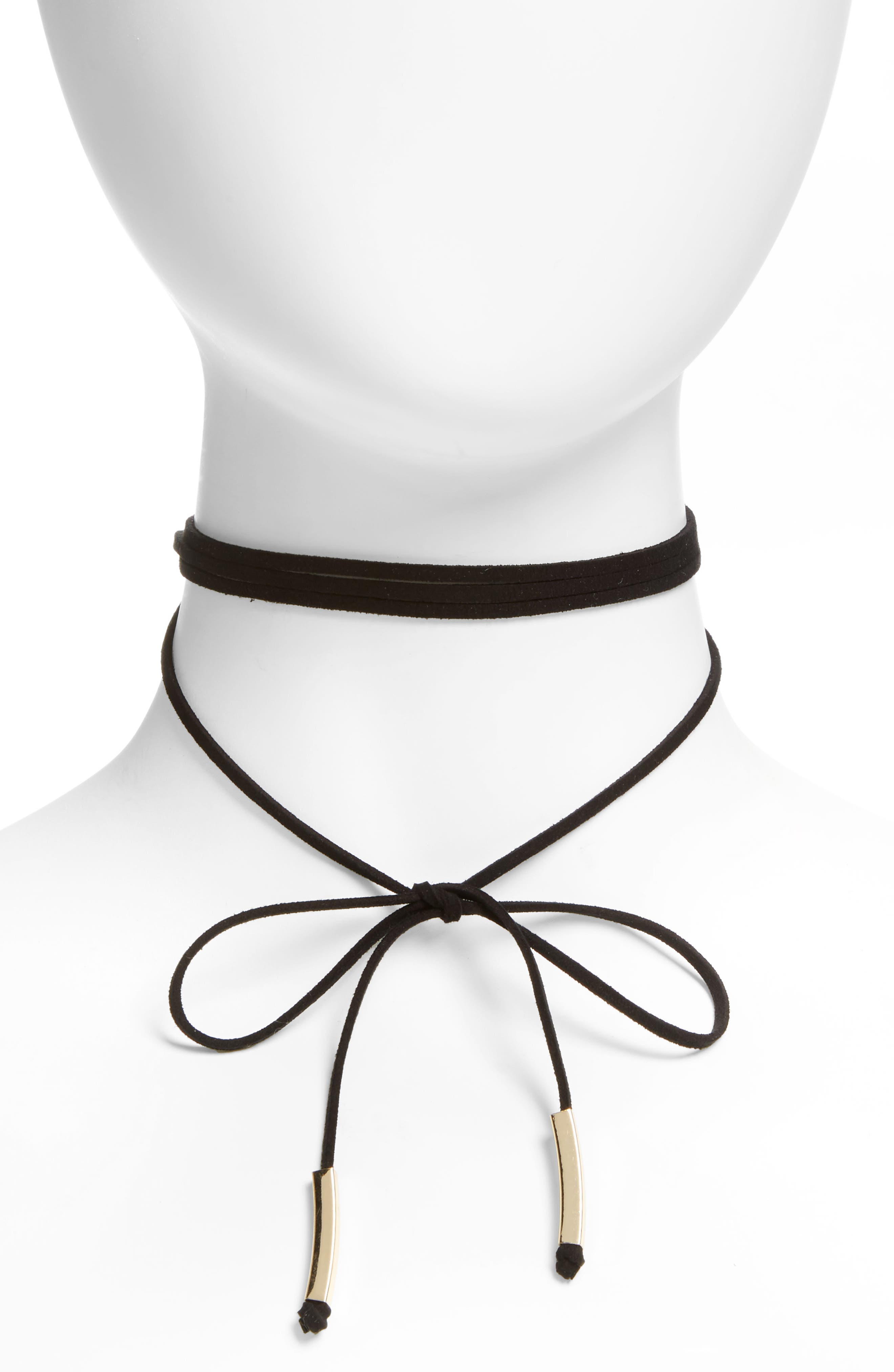 Alternate Image 1 Selected - Topshop Wrap Choker Necklace