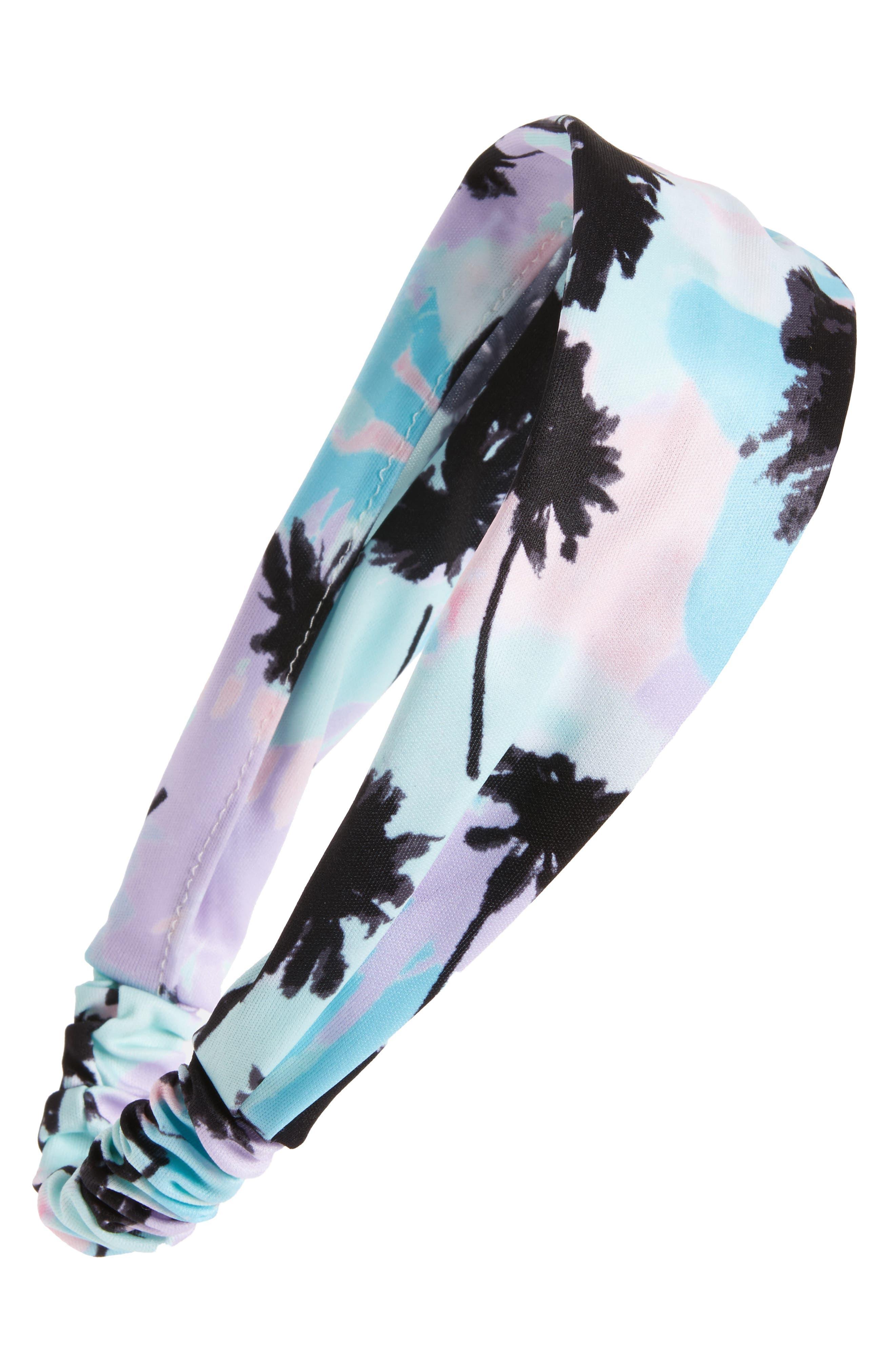 Berry Tropical Palm Head Wrap