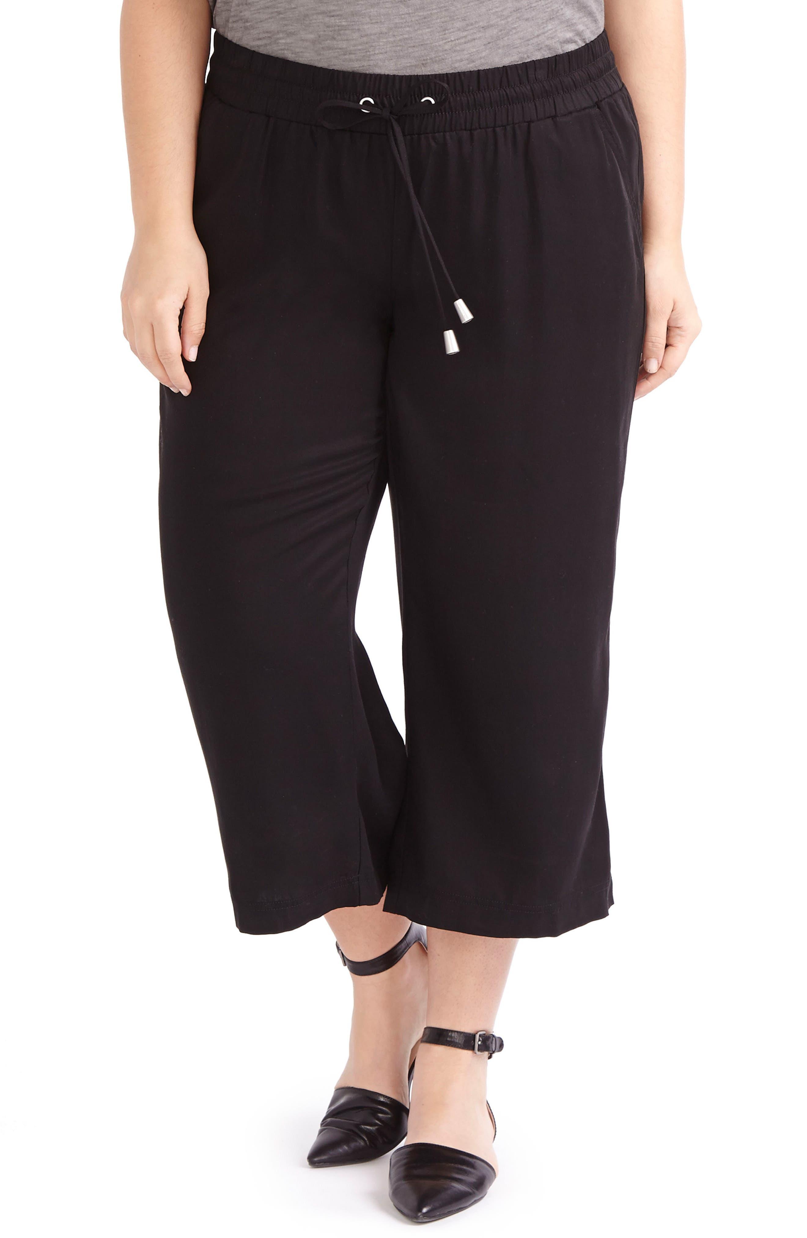 ADDITION ELLE LOVE AND LEGEND Wide Leg Capri Pants (Plus Size)