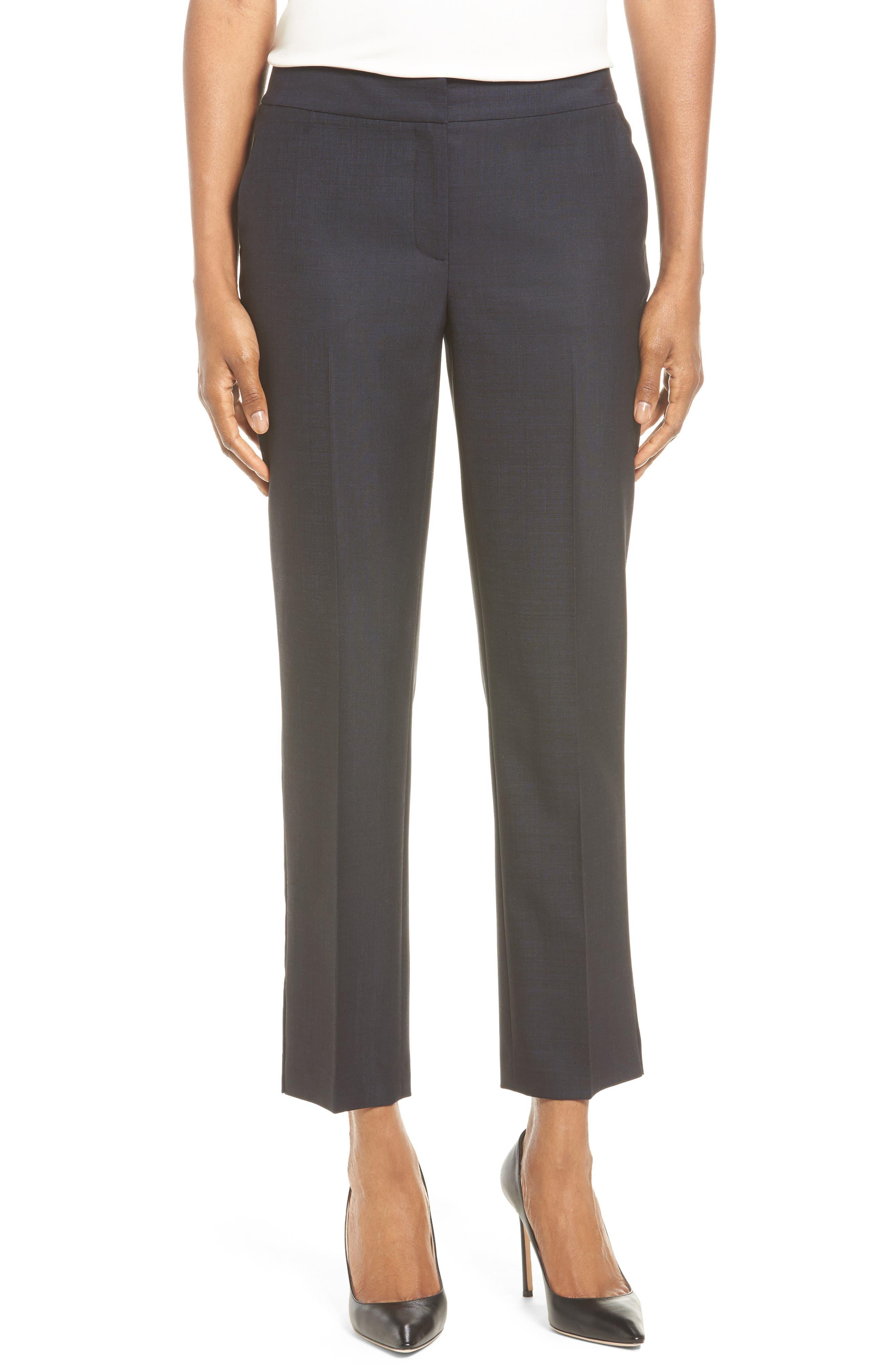 Classiques Entier® Side Slit Slim Crop Pants