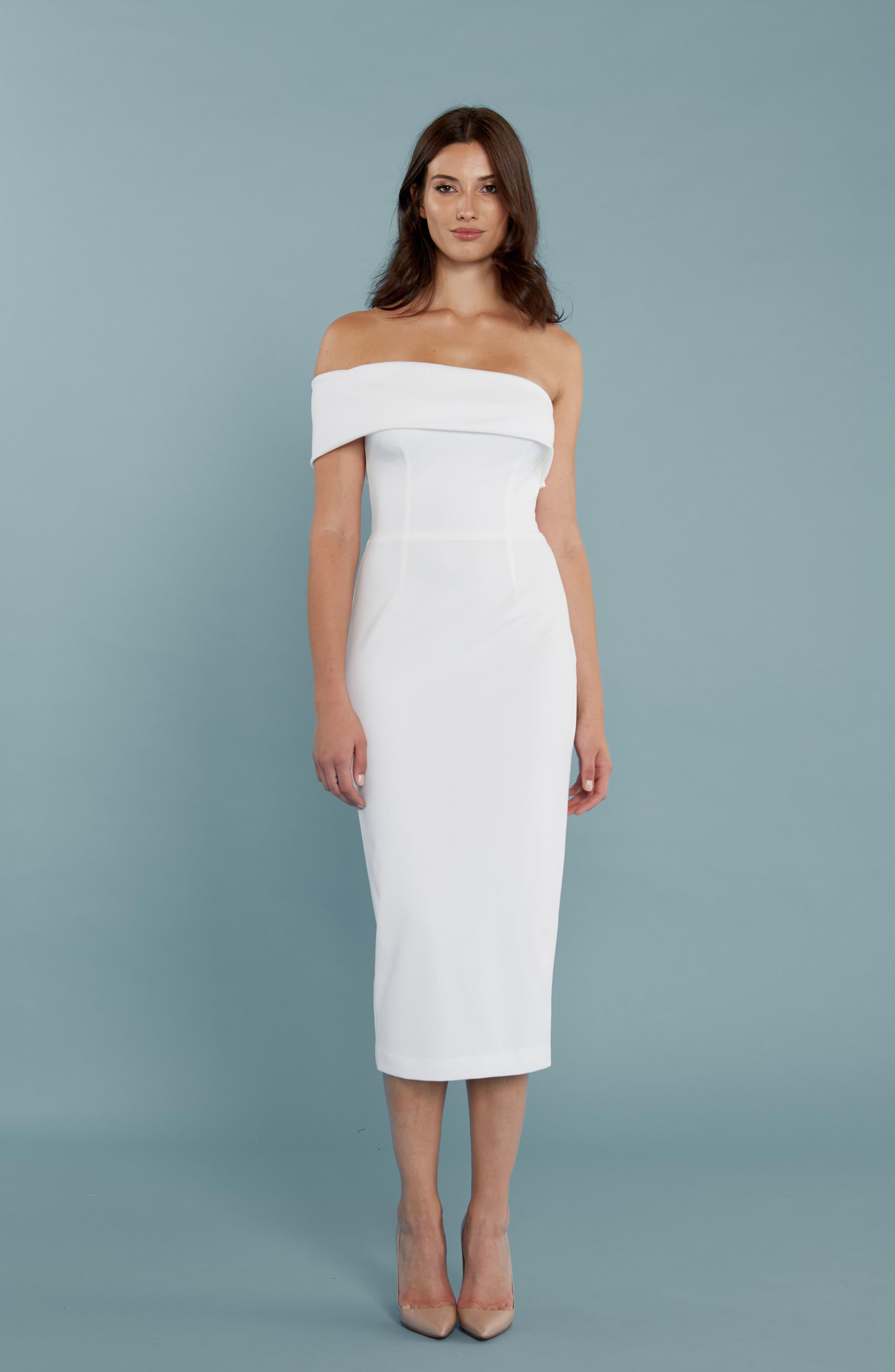 Alternate Image 3  - Katie May One-Shoulder Midi Sheath Dress