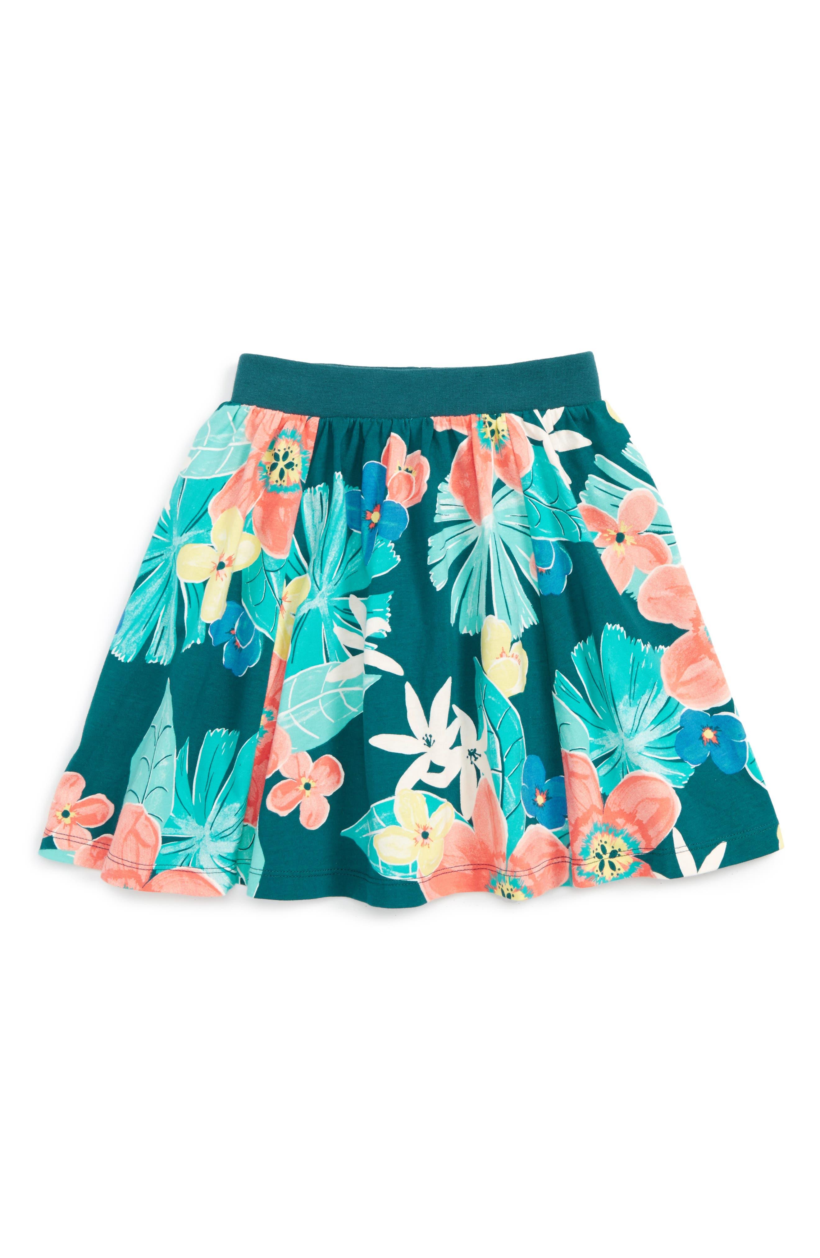 Tea Collection Coral Fern Twirl Skirt (Toddler Girls, Little Girls & Big Girls)