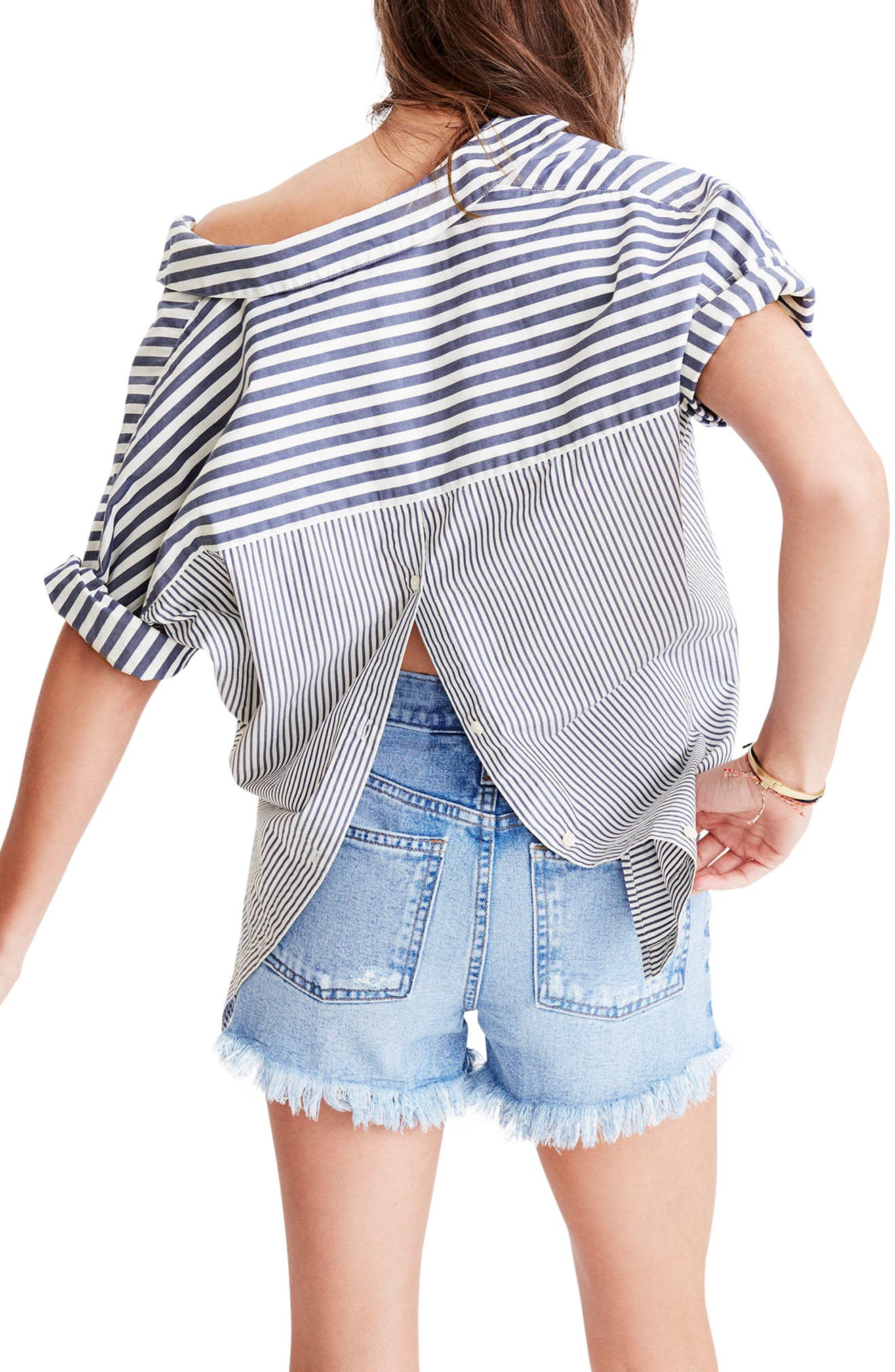 Alternate Image 2  - Madewell Stripe Courier Shirt