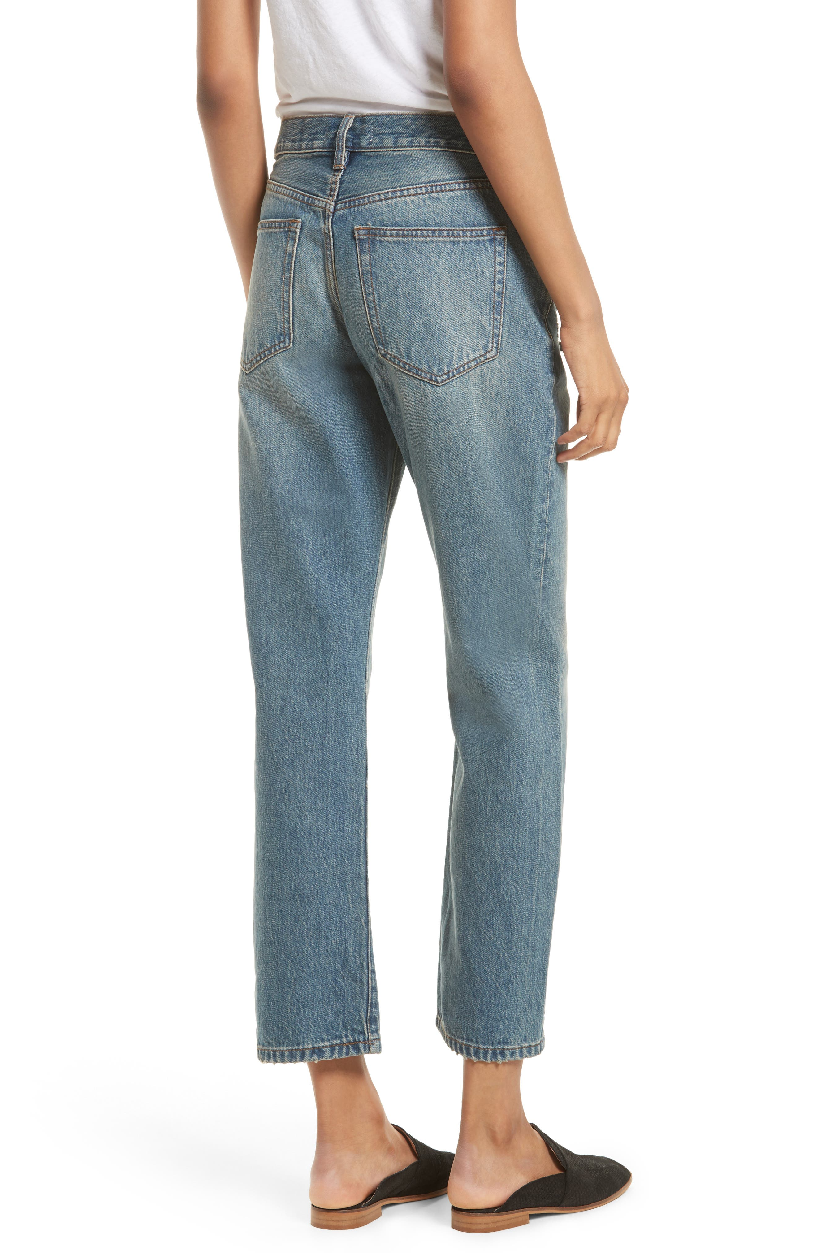 Alternate Image 2  - Free People Universal Boyfriend Jeans (Sky)