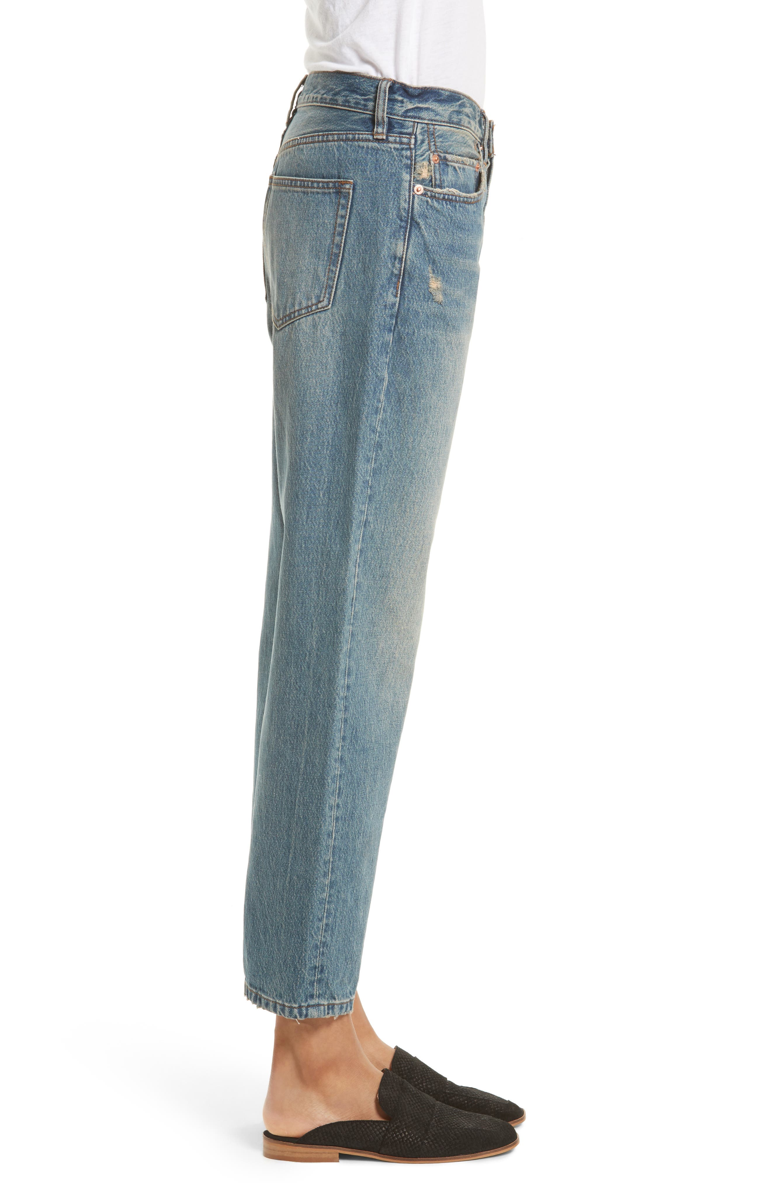 Alternate Image 3  - Free People Universal Boyfriend Jeans (Sky)