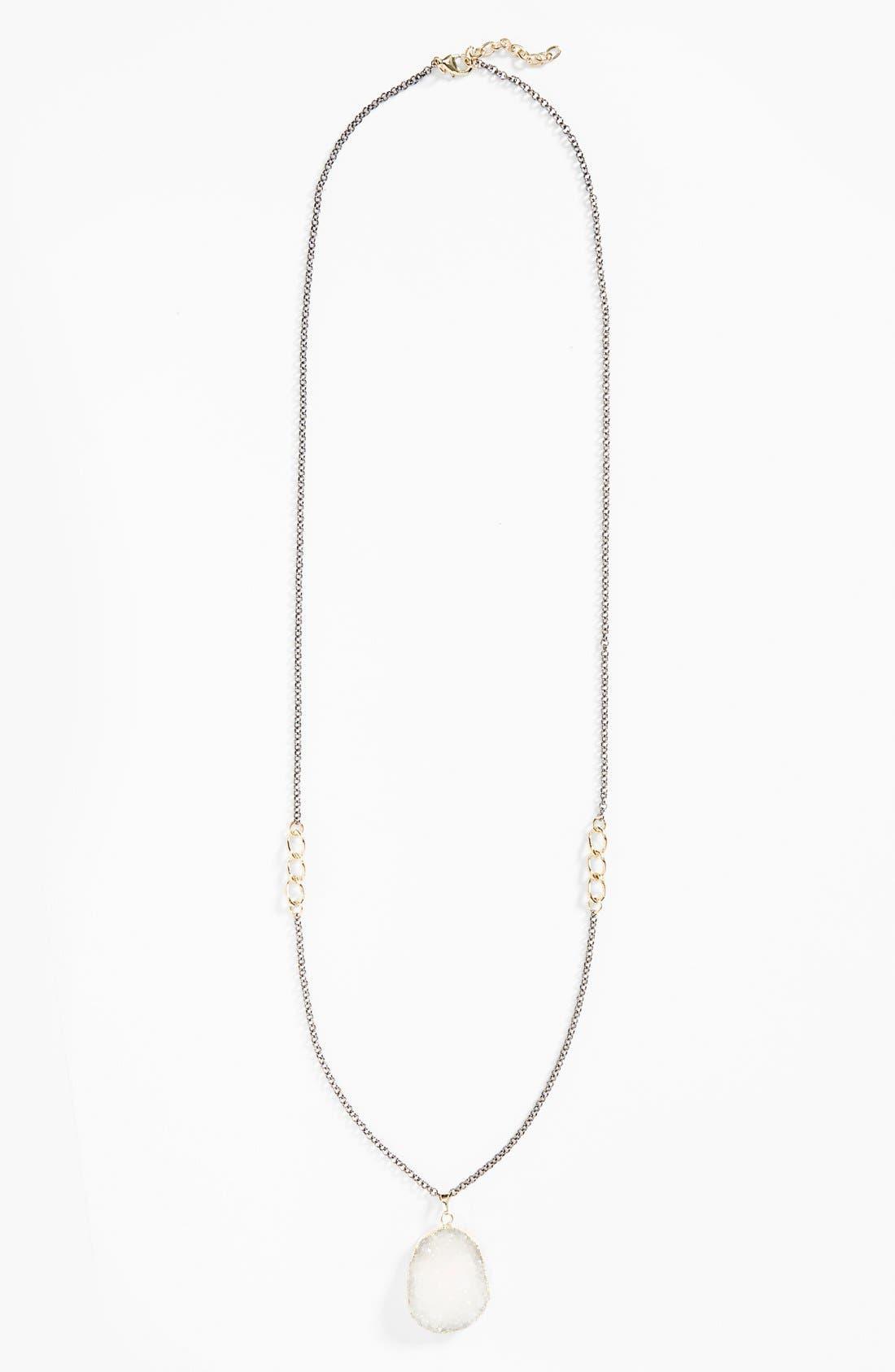Alternate Image 2  - Panacea Glittering Drusy Pendant Necklace