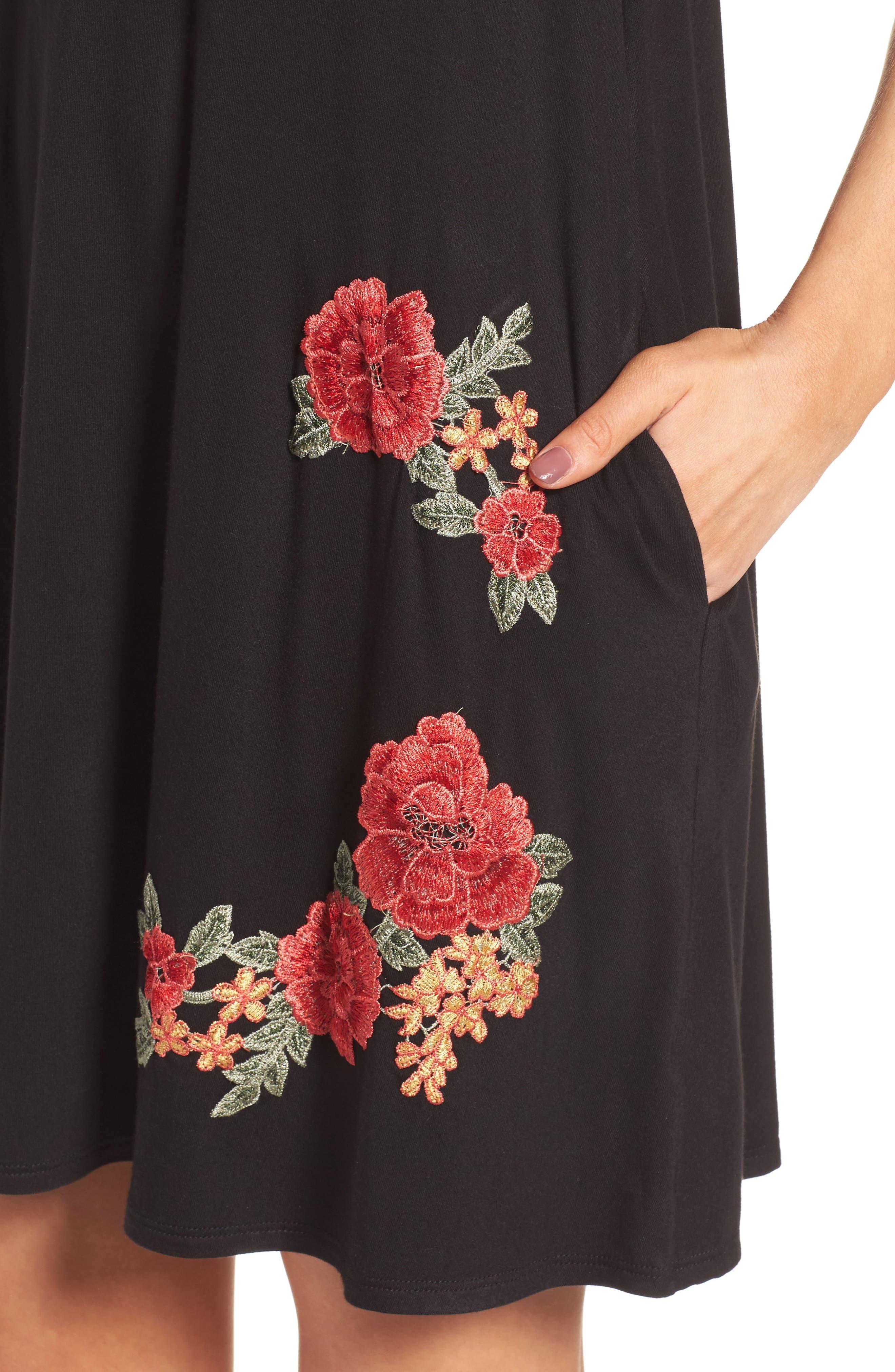 Alternate Image 4  - Socialite Floral Appliqué Tank Dress