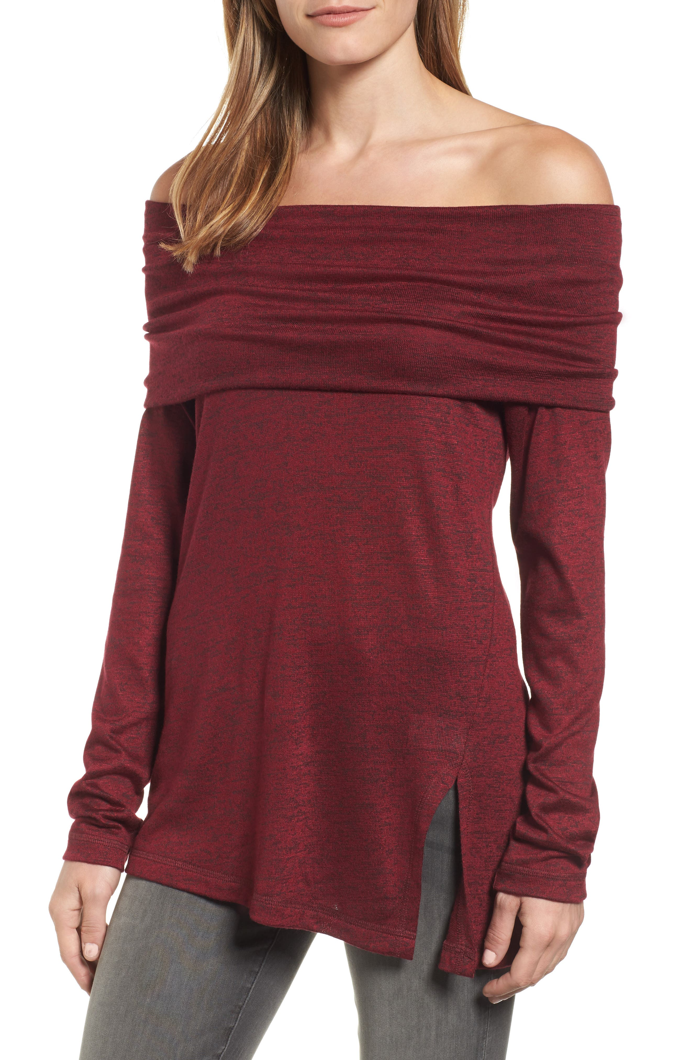 Michael Stars Off the Shoulder Knit Top