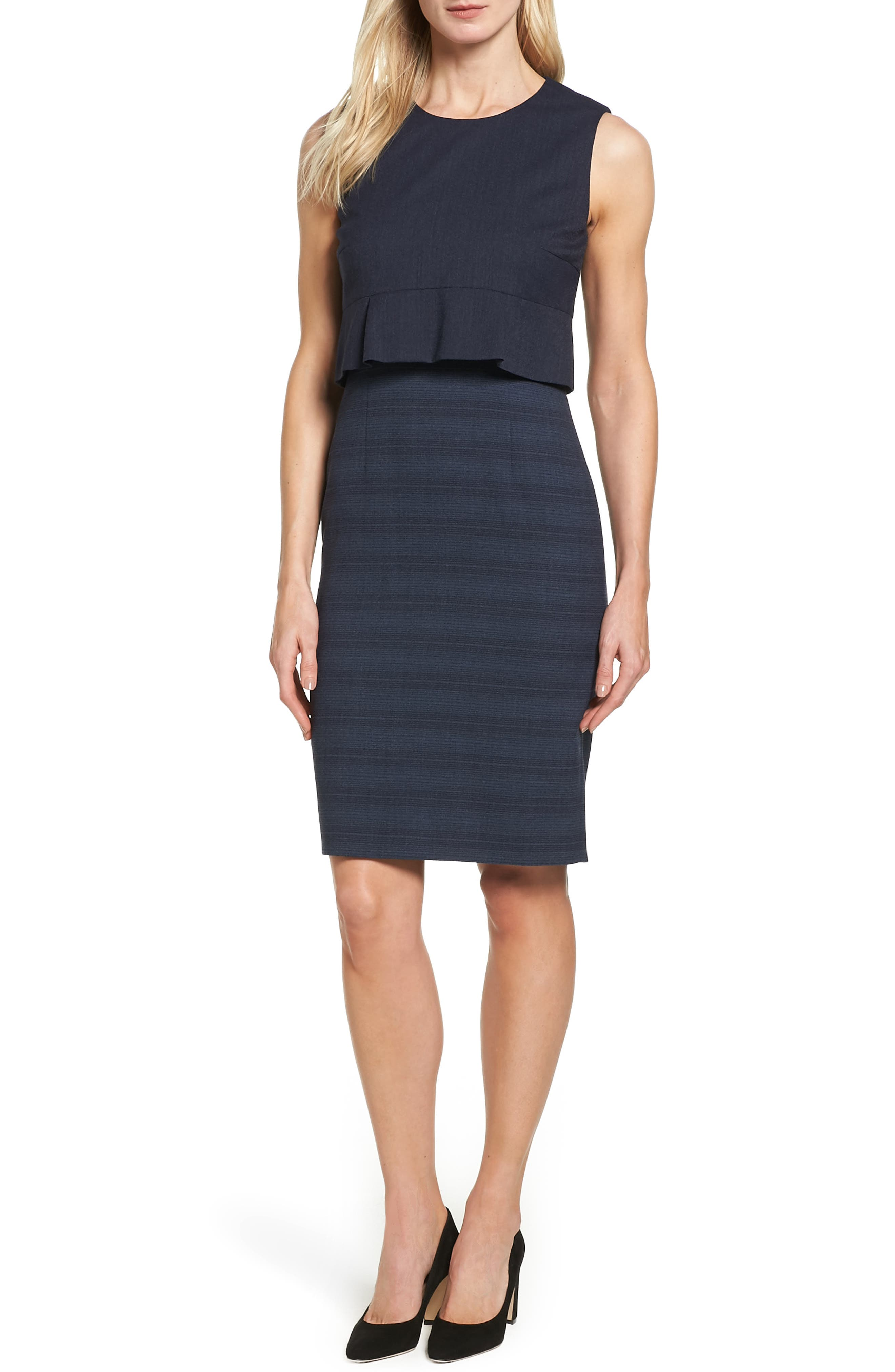 BOSS Dalera Popover Sheath Dress (Regular & Petite)