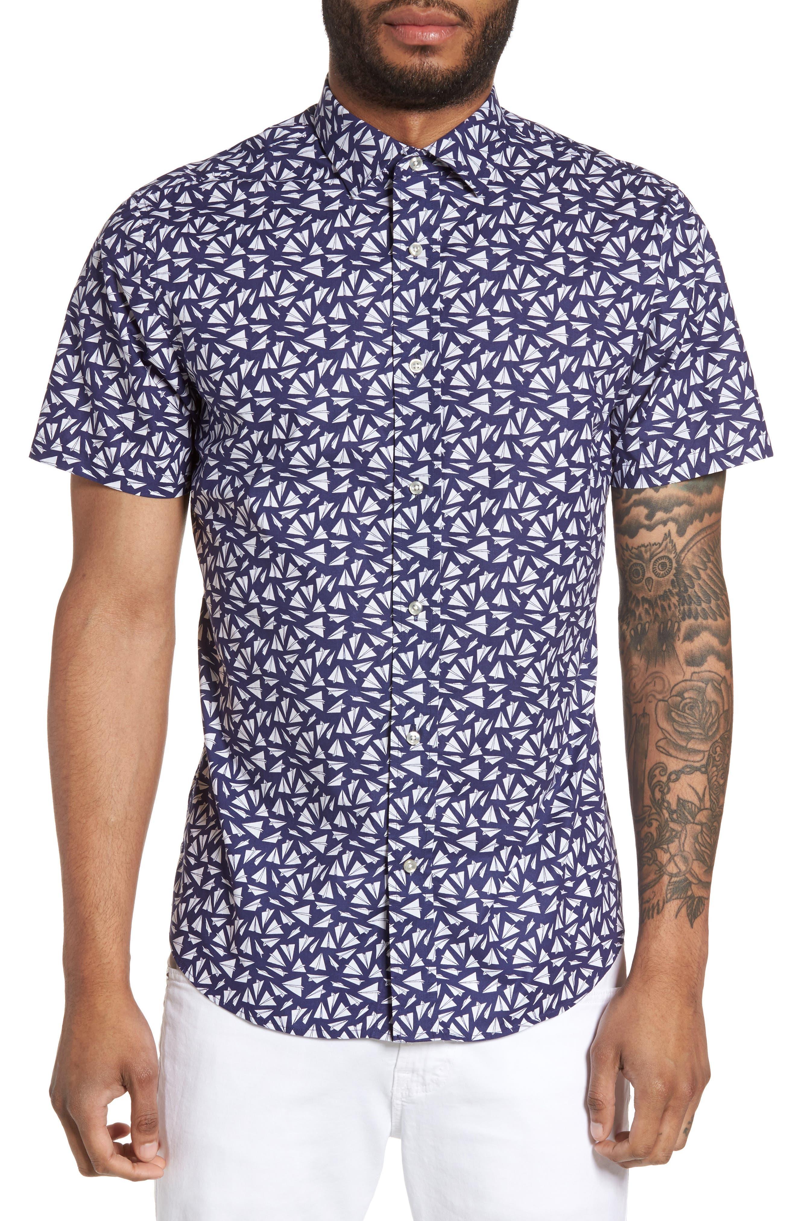Slate & Stone Slim Fit Print Sport Shirt