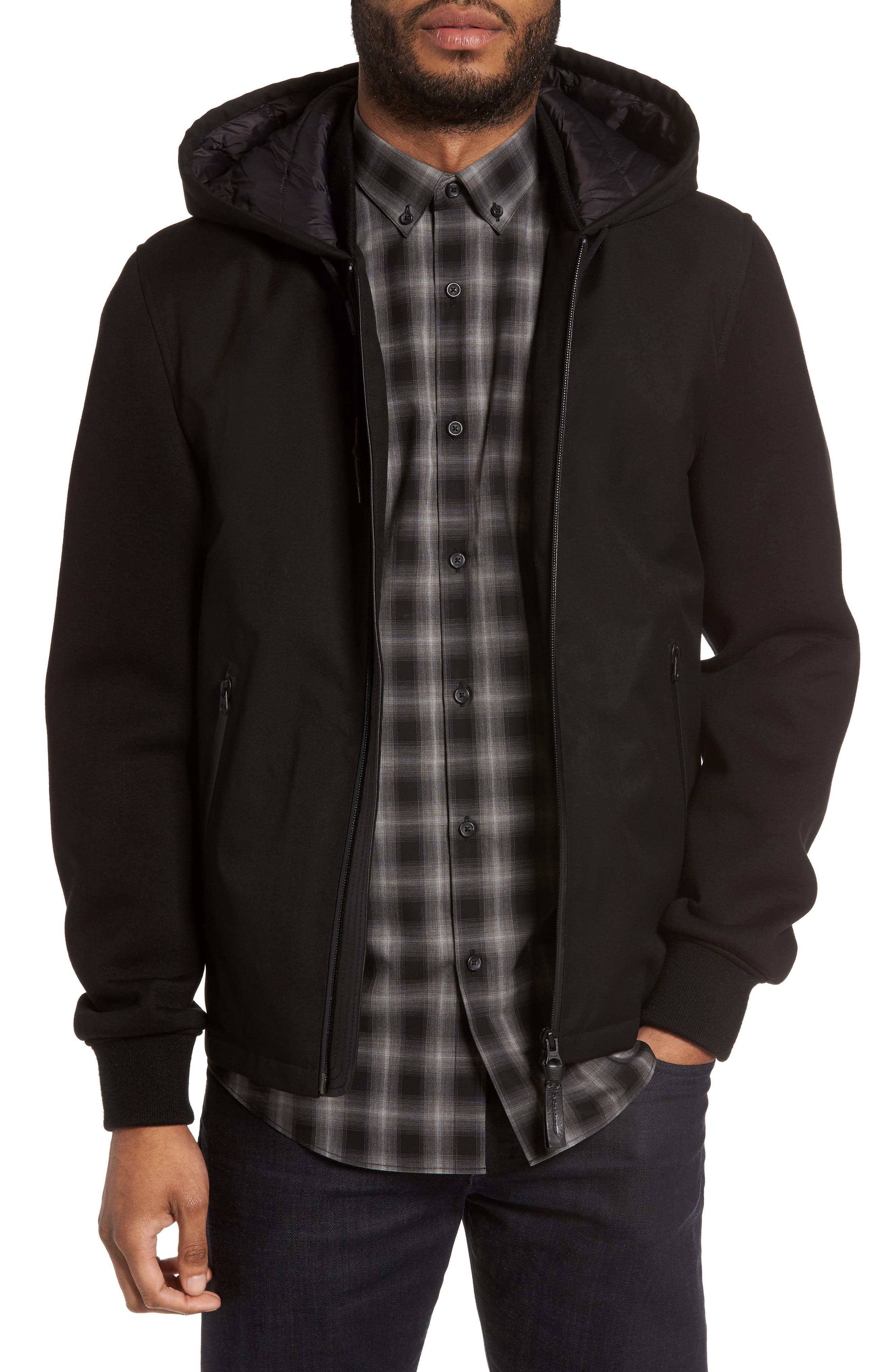 Mackage Mixed Media Hooded Jacket