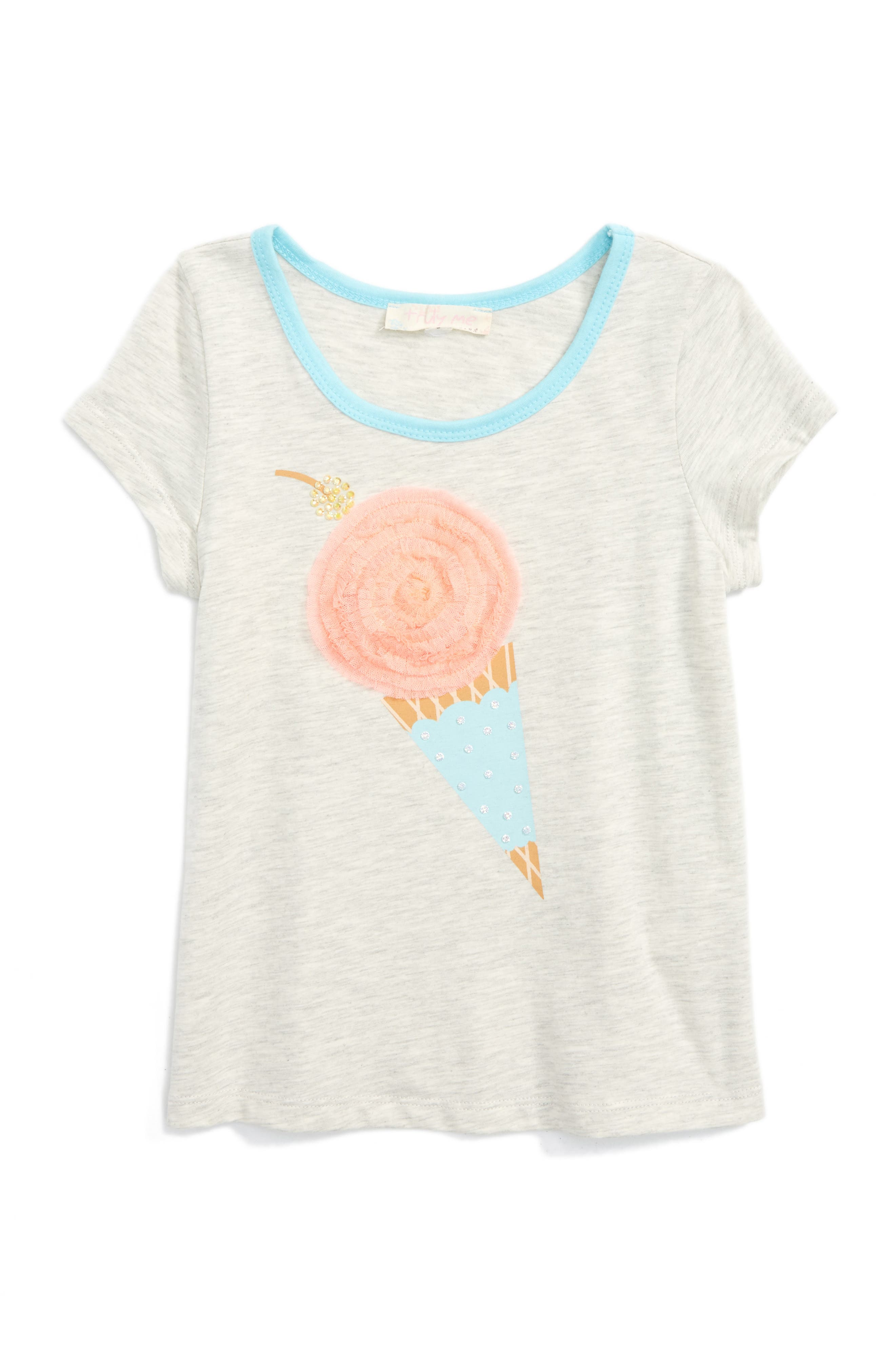 Truly Me Embellished Graphic Tee (Toddler Girls & Little Girls)