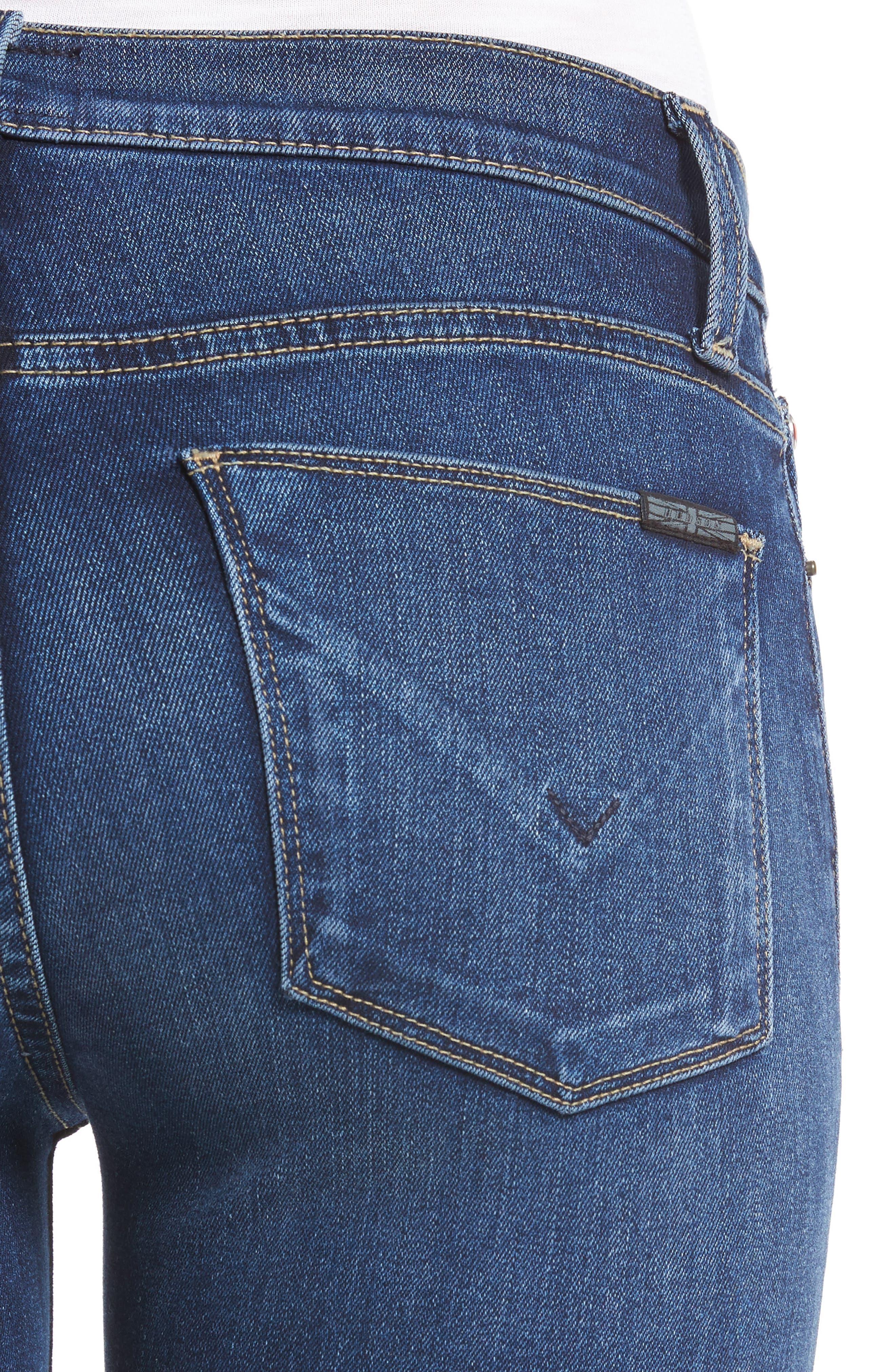 Alternate Image 4  - Hudson Jeans Colette Step Hem Skinny Jeans (Backbone)